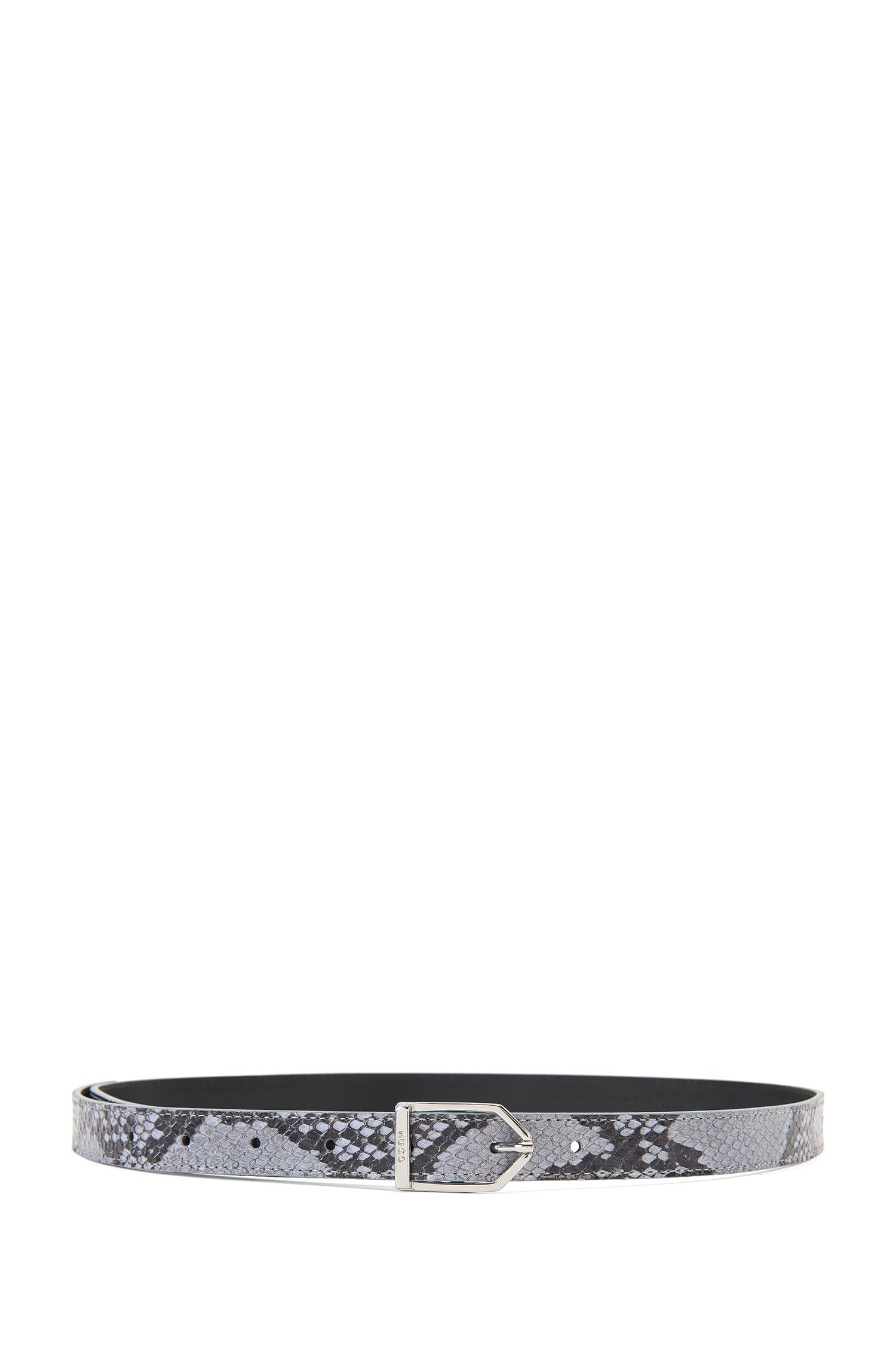 Belt in embossed leather: 'Luna-P'