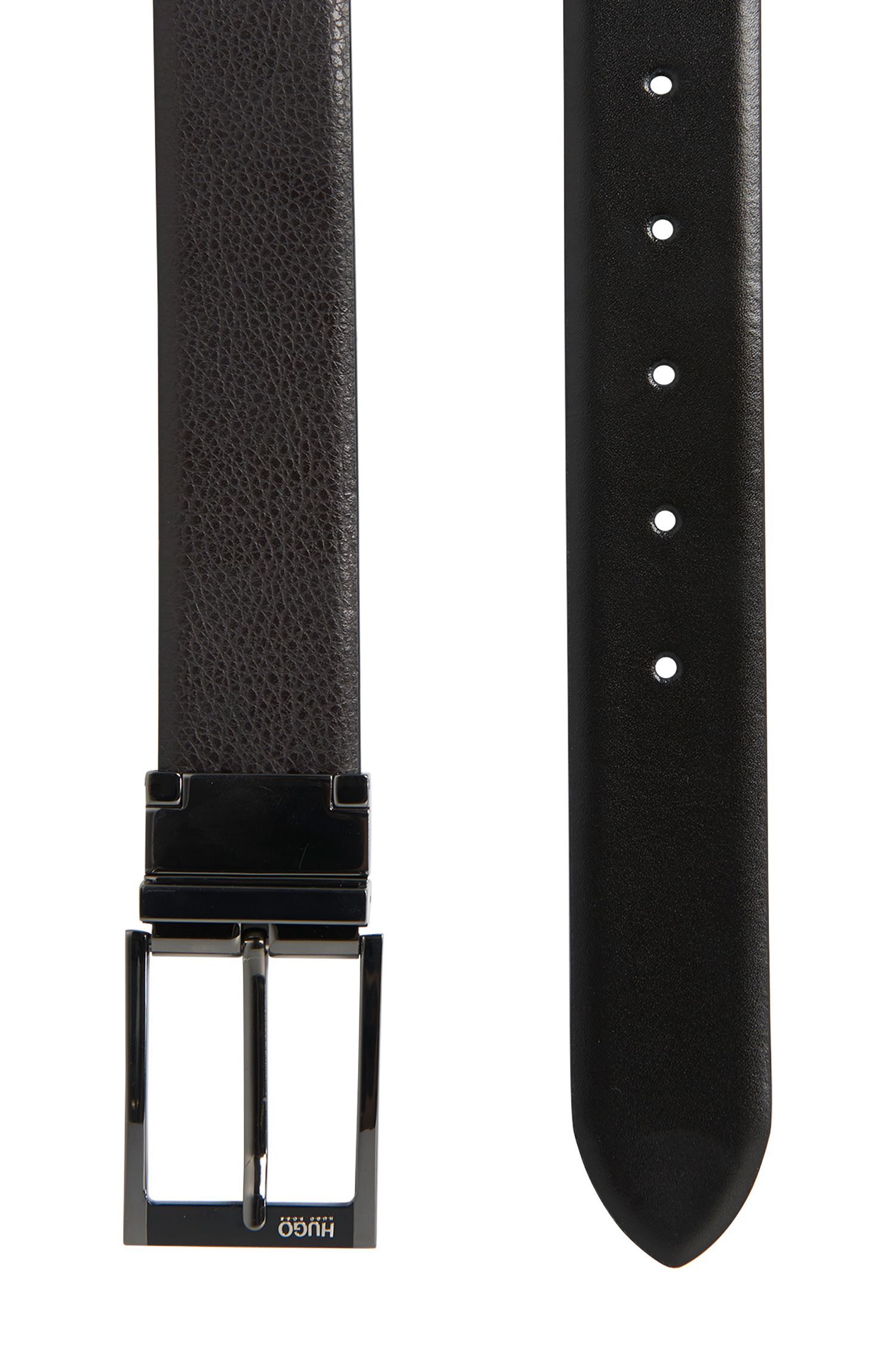 Handgefertigter Wendegürtel aus Leder: 'Gabryo_Or35_ps'