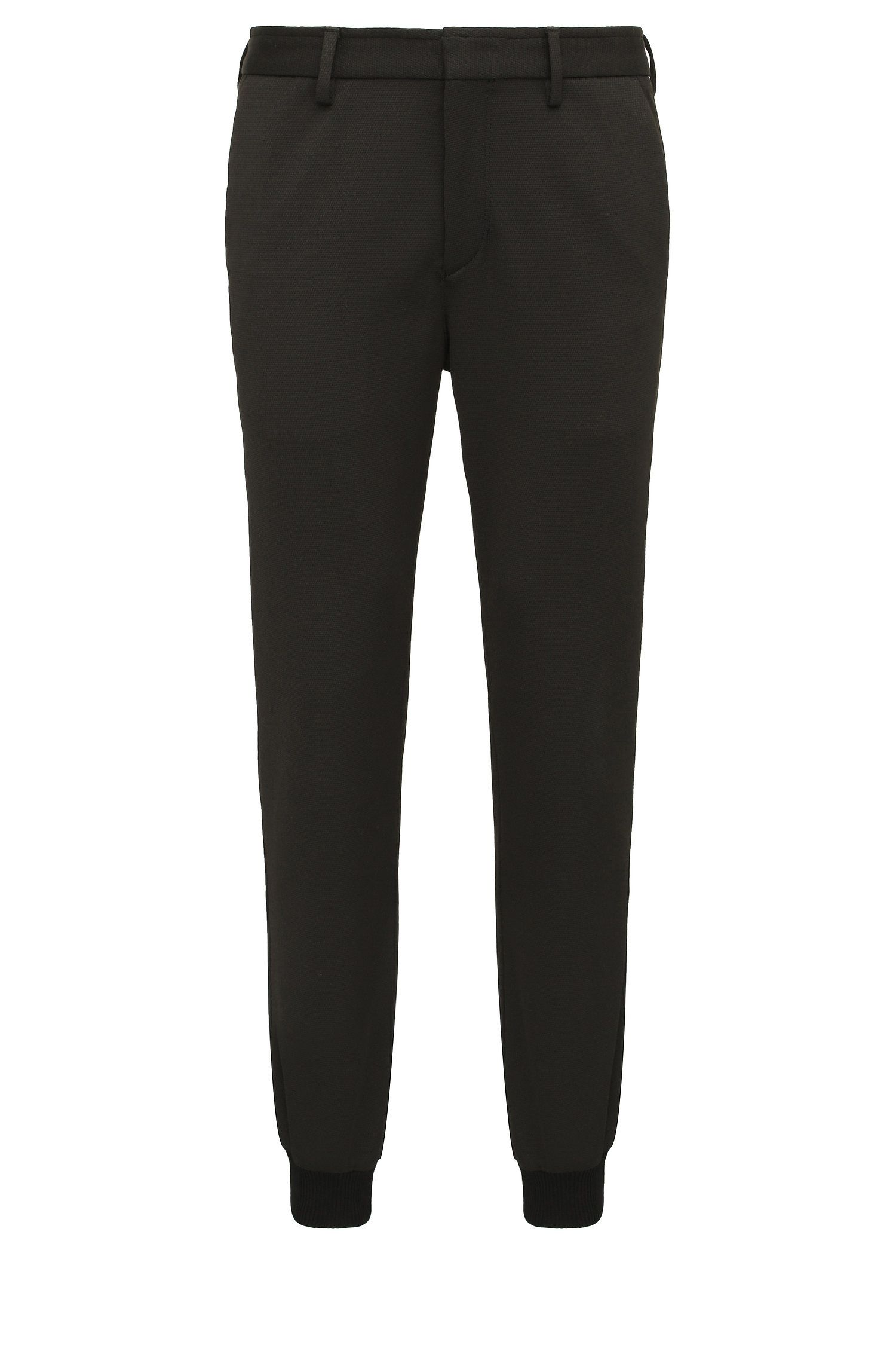 Slim-fit trousers in a stretch fabric blend: 'Loomes'