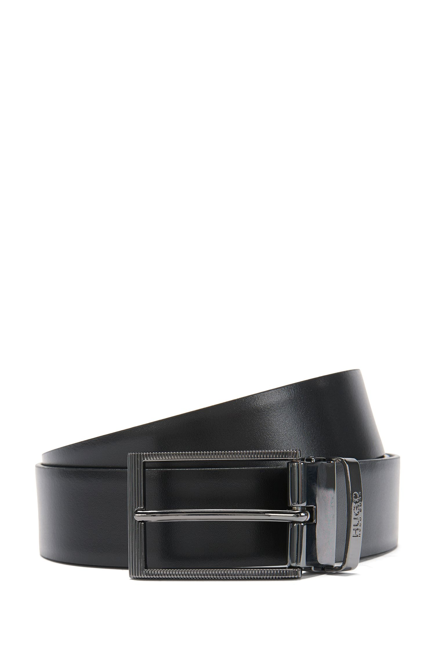 Reversible leather belt with interchangeable buckle: 'Grady-G_Gb35_ps'