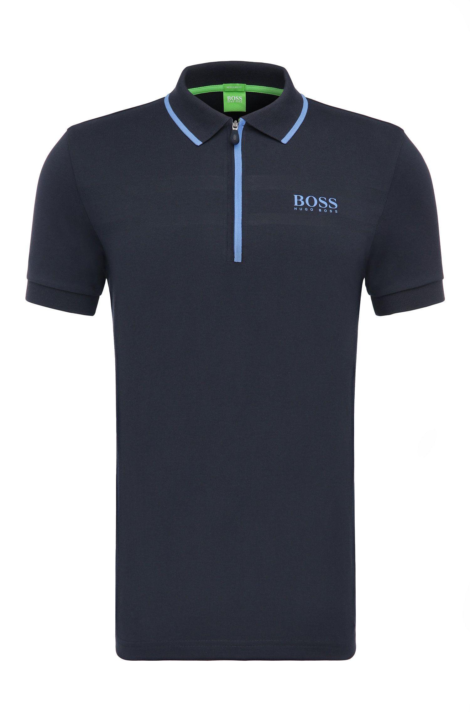 Regular-Fit Poloshirt aus Baumwoll-Mix: ´Pronghorn Pro`