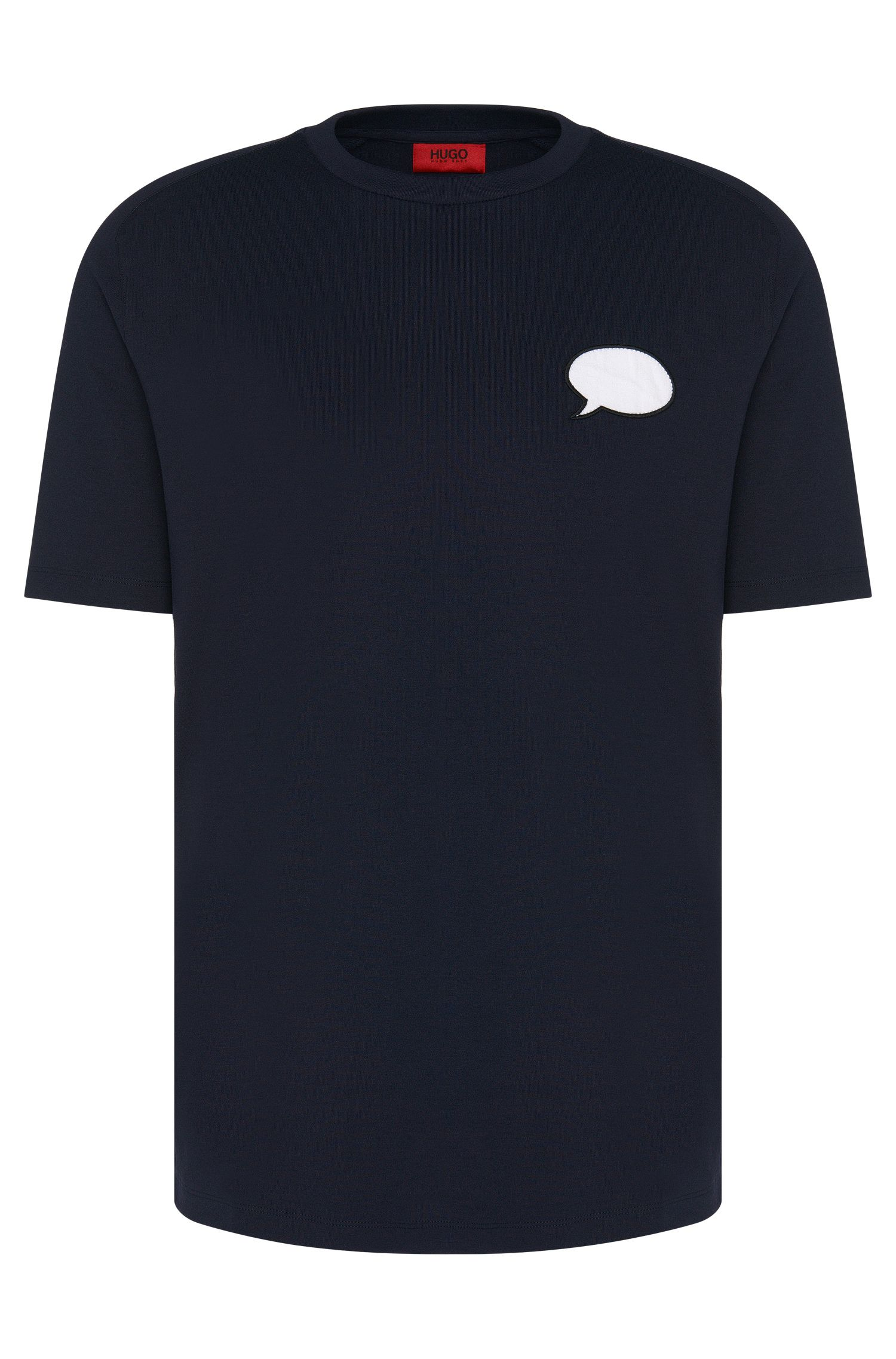 Regular-fit short-sleeved sweatshirt in cotton: 'Denlo'