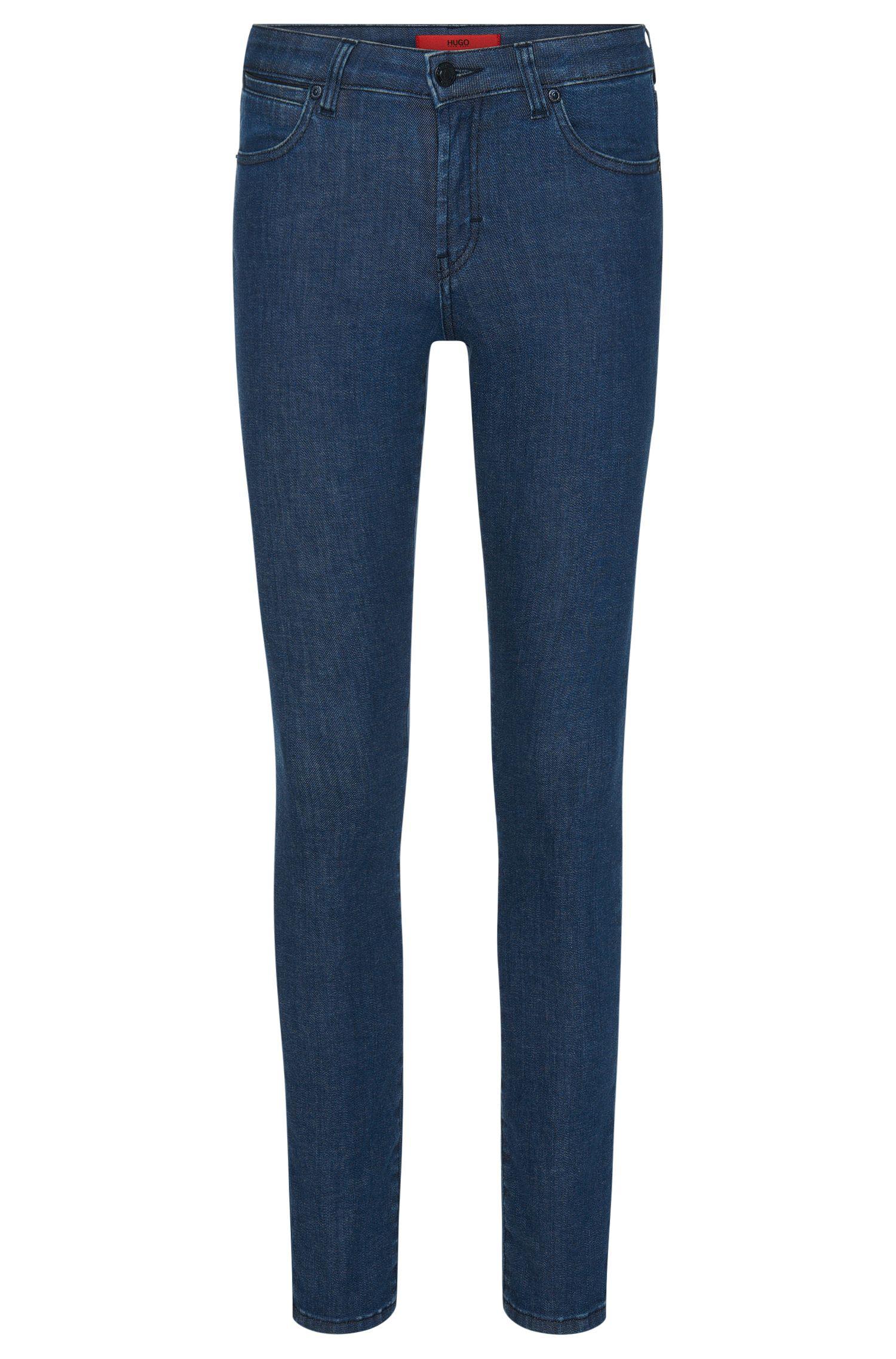 Slim-fit jeans van een elastische katoenmix: 'Genty'