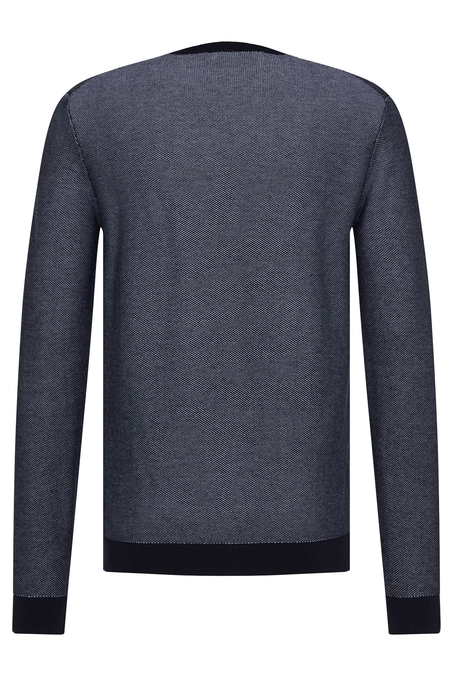 Fein gemusterter Relaxed-Fit Pullover aus Baumwolle: 'Sarmon'