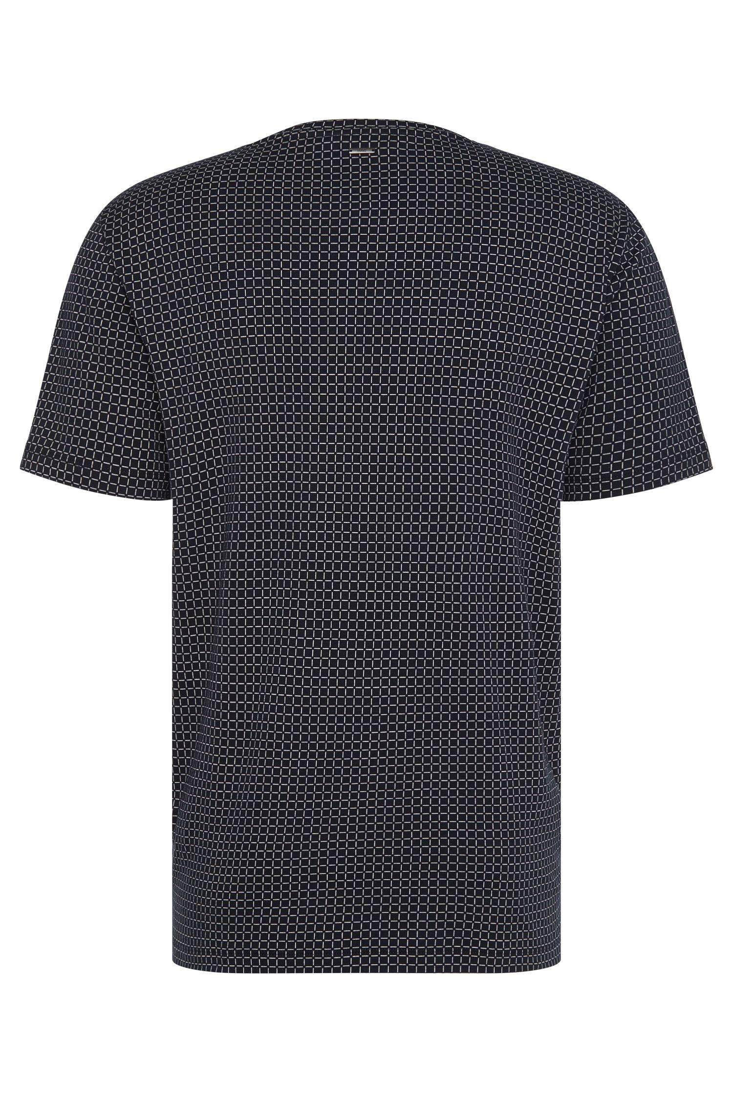Relaxed-fit T-shirt van katoen met dessin: 'Drid'