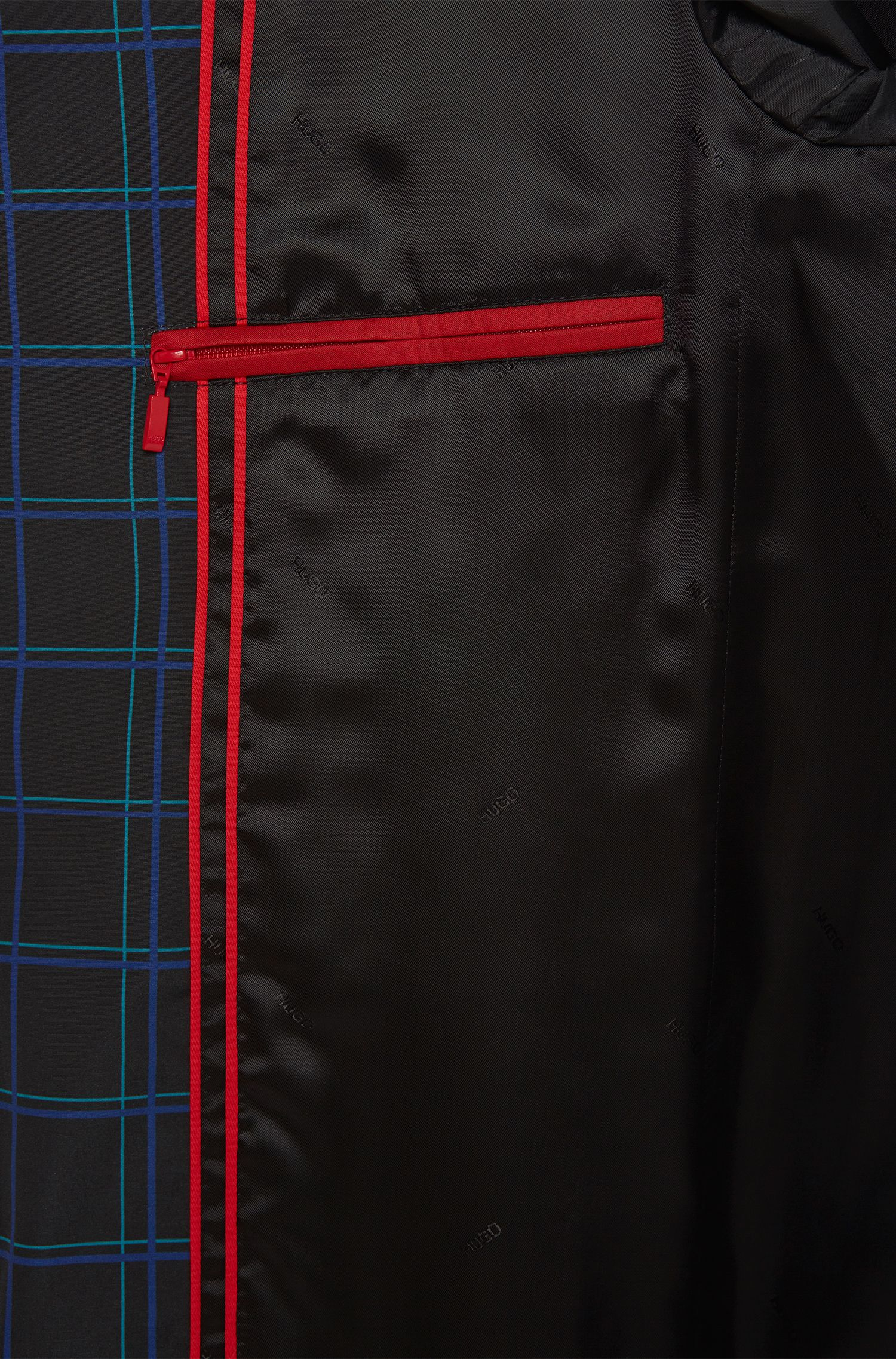Karierter Mantel mit Zwei-Wege-Reißverschluss: 'Melcet'