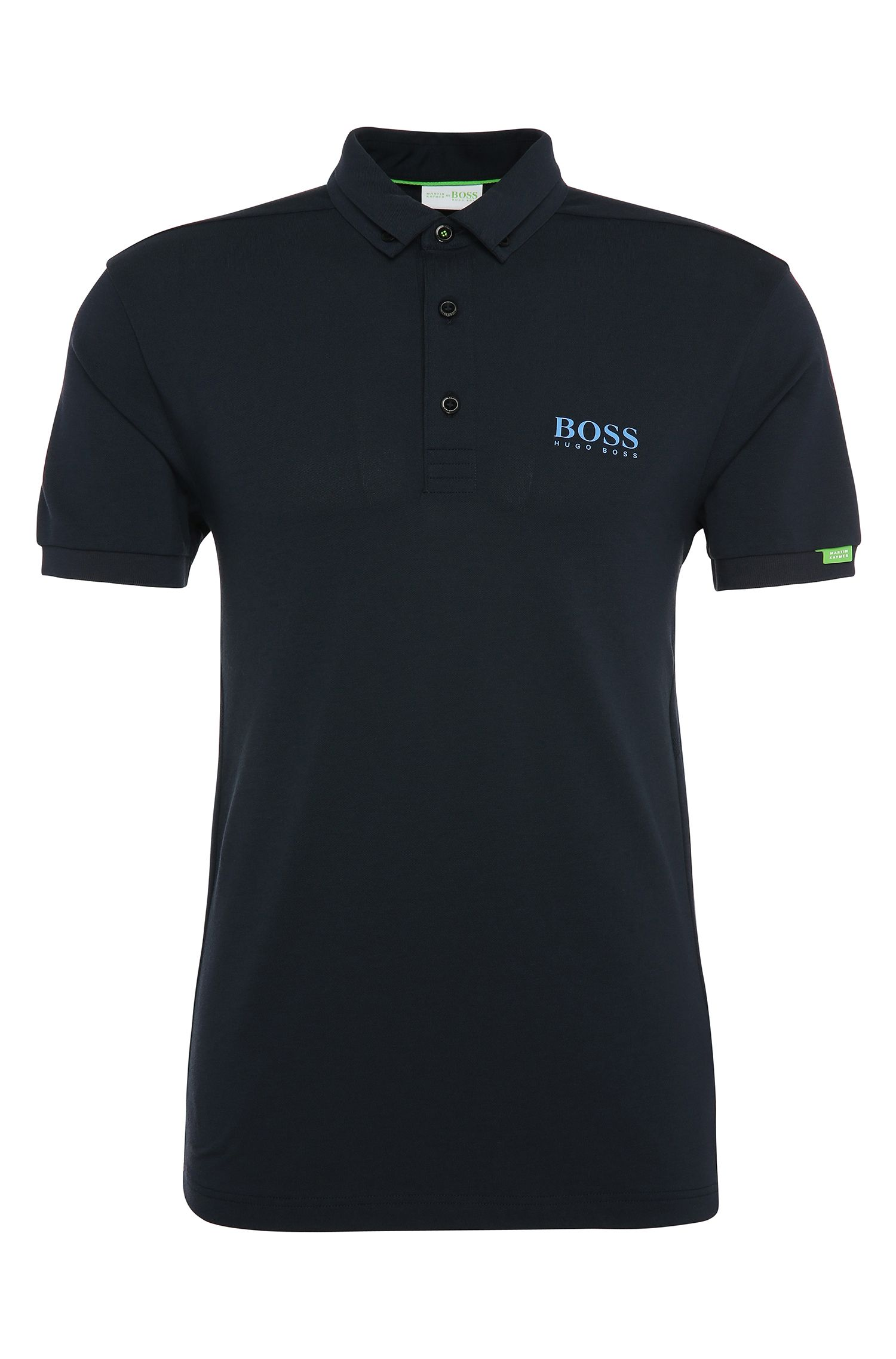Regular-fit polo shirt in stretch cotton blend: 'Paddy MK'
