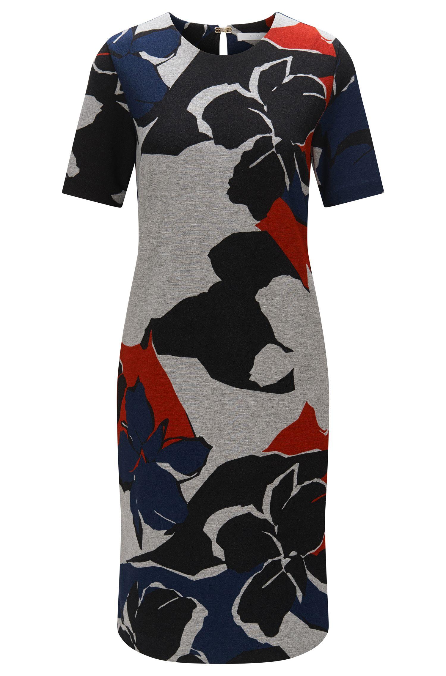 Abstrakt gemustertes Kleid aus elastischem Viskose-Mix: 'Erda'