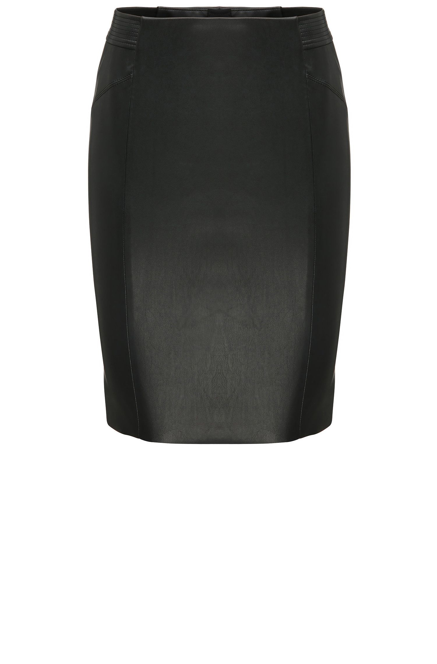 Pencil skirt in a leather-look material blend: 'Balou'