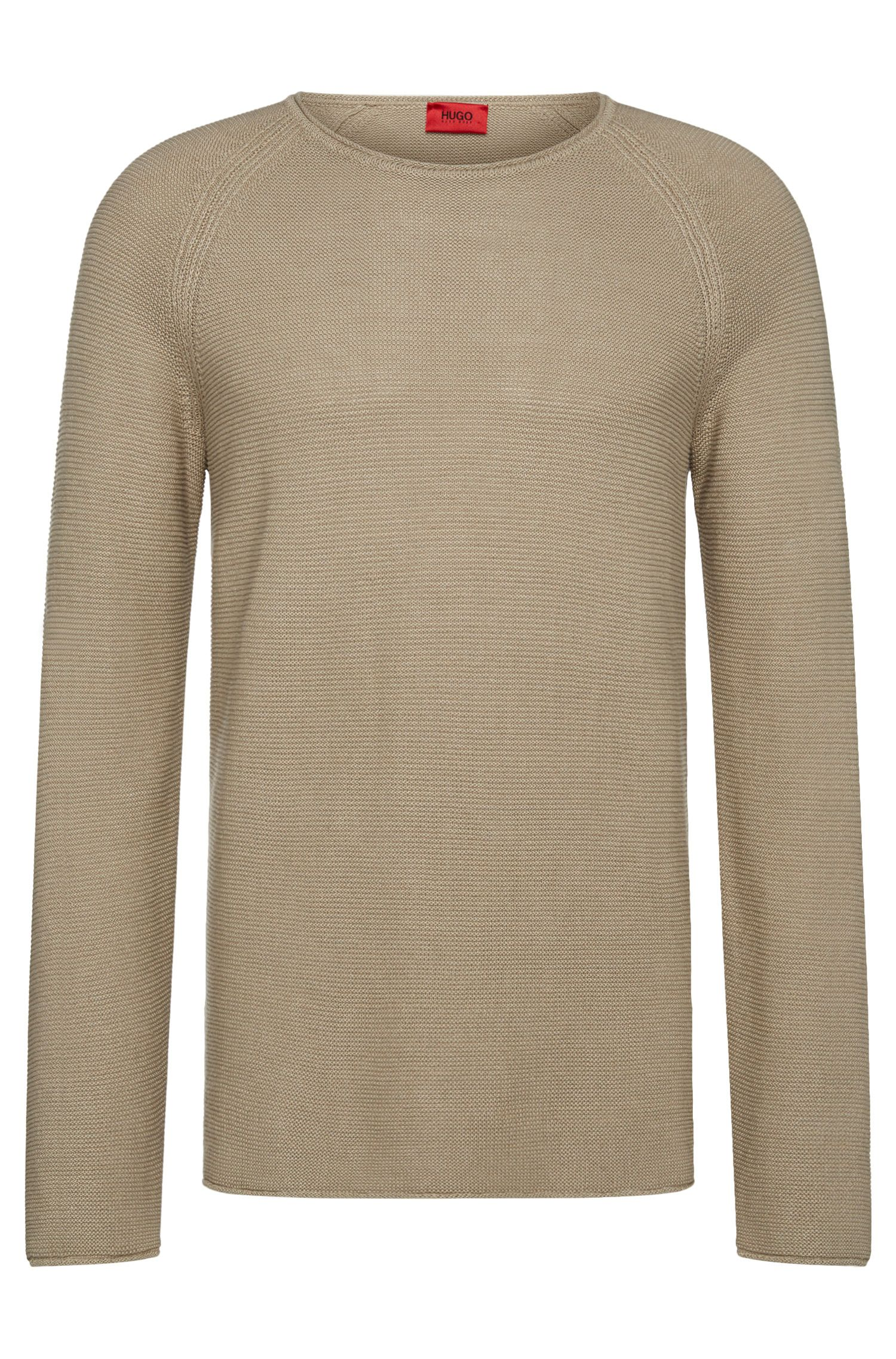 Relaxed-fit sweater in linen blend with cotton: 'Soler'