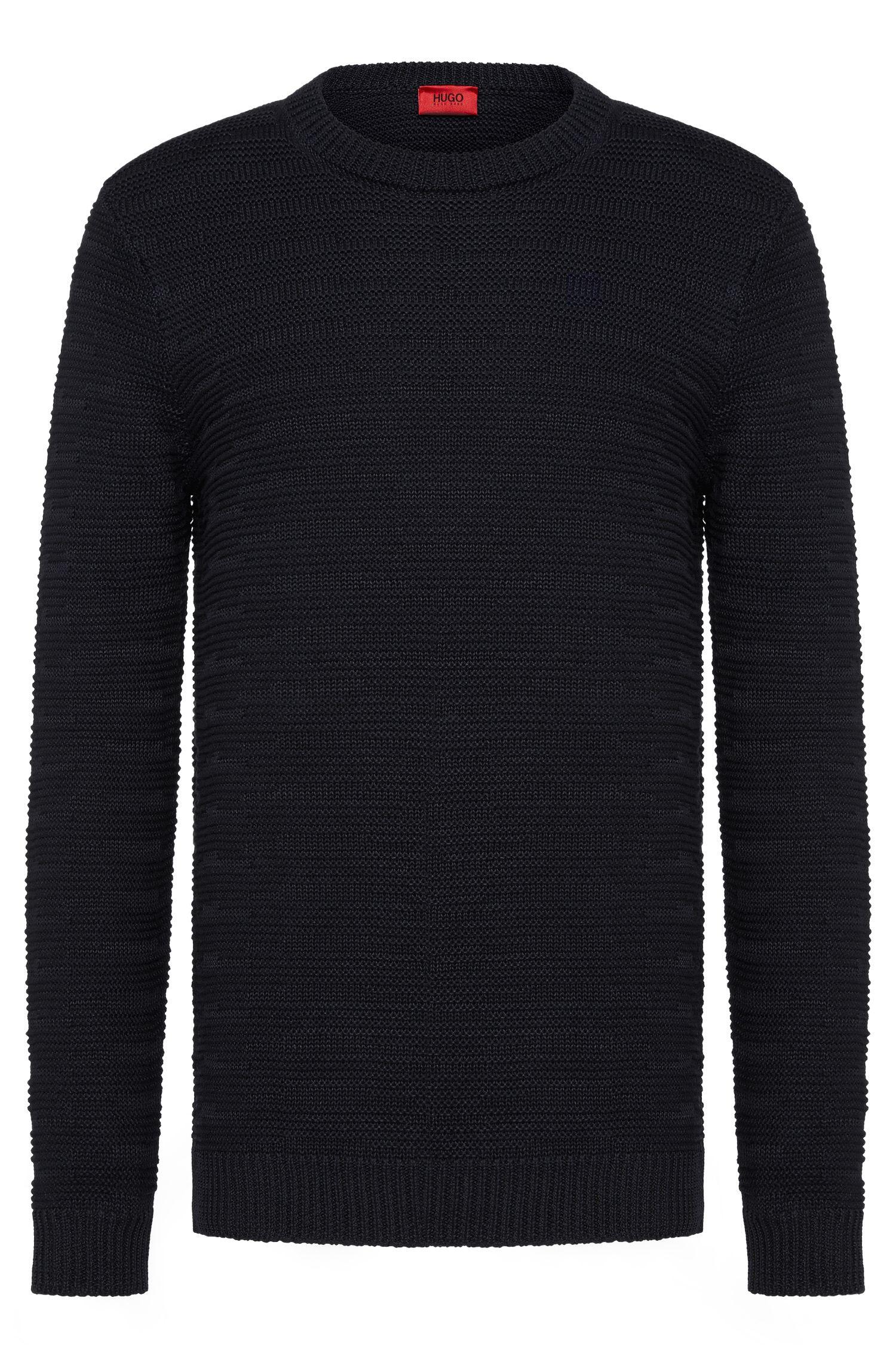 Oversized-fit trui van een linnenmix met katoen: 'Soleron'