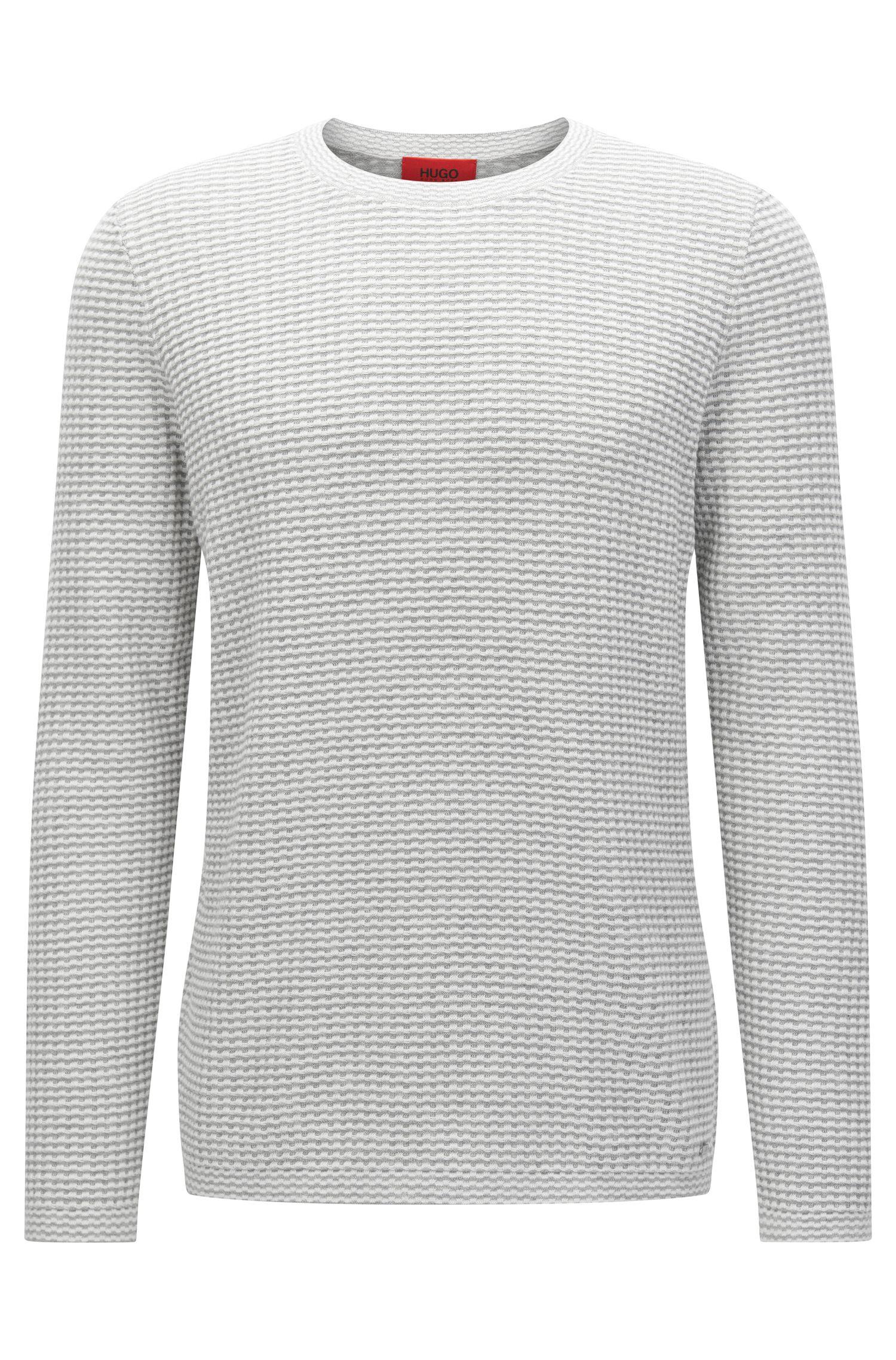 Oversized-Fit Pullover aus strukturierter Baumwolle: 'Stanch'