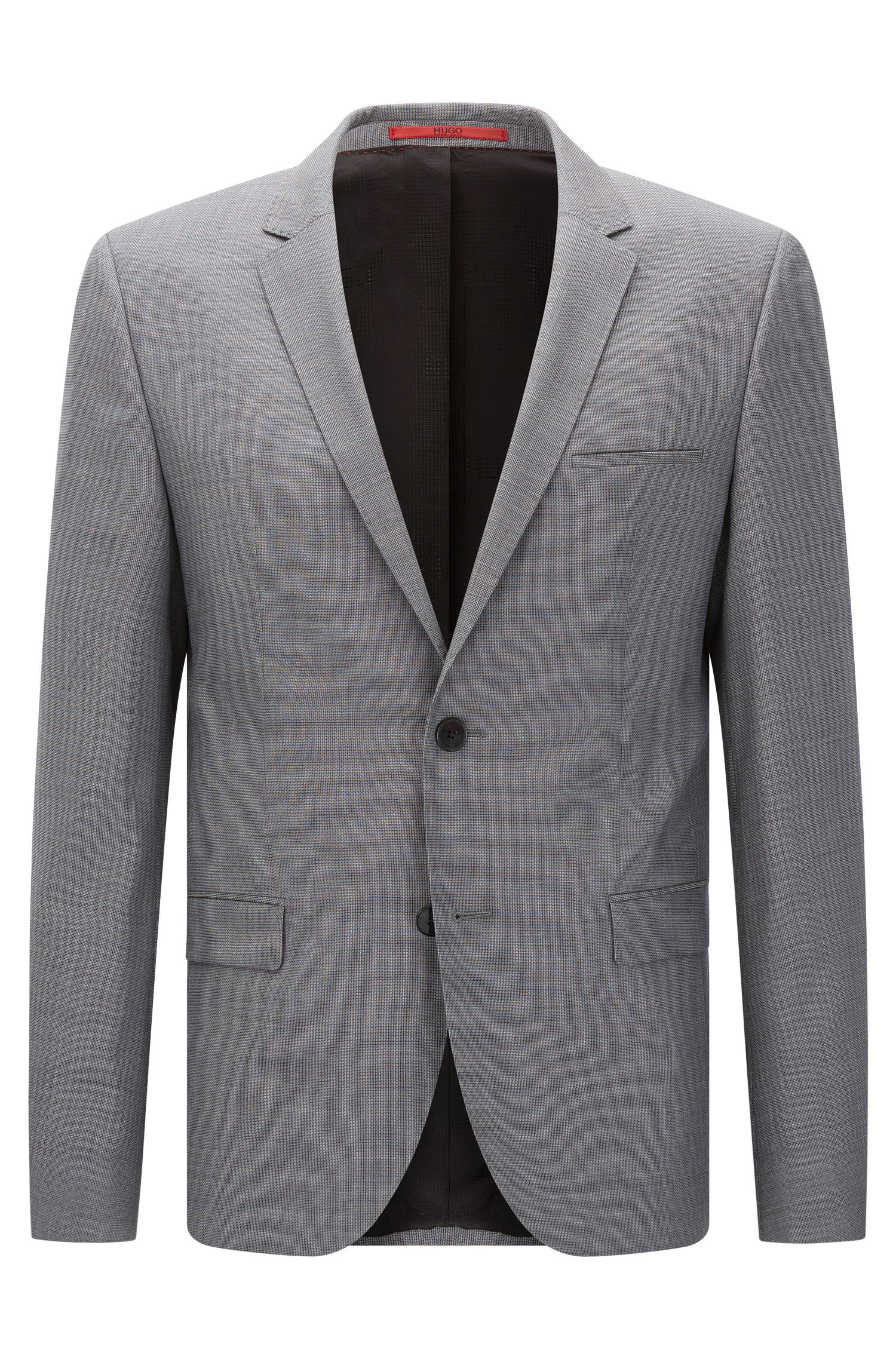 Slim-fit jacket in finely textured new wool: 'AlisterS'