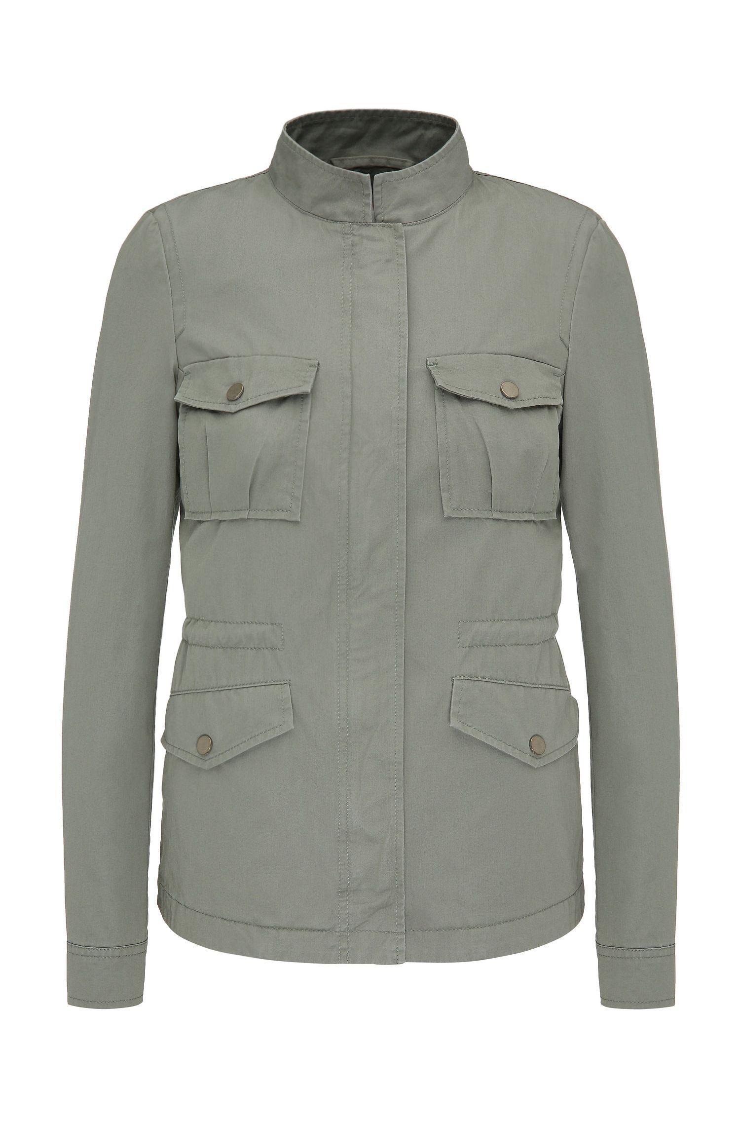 Blouson outdoor en coton de style militaire: «Omillia1-W»