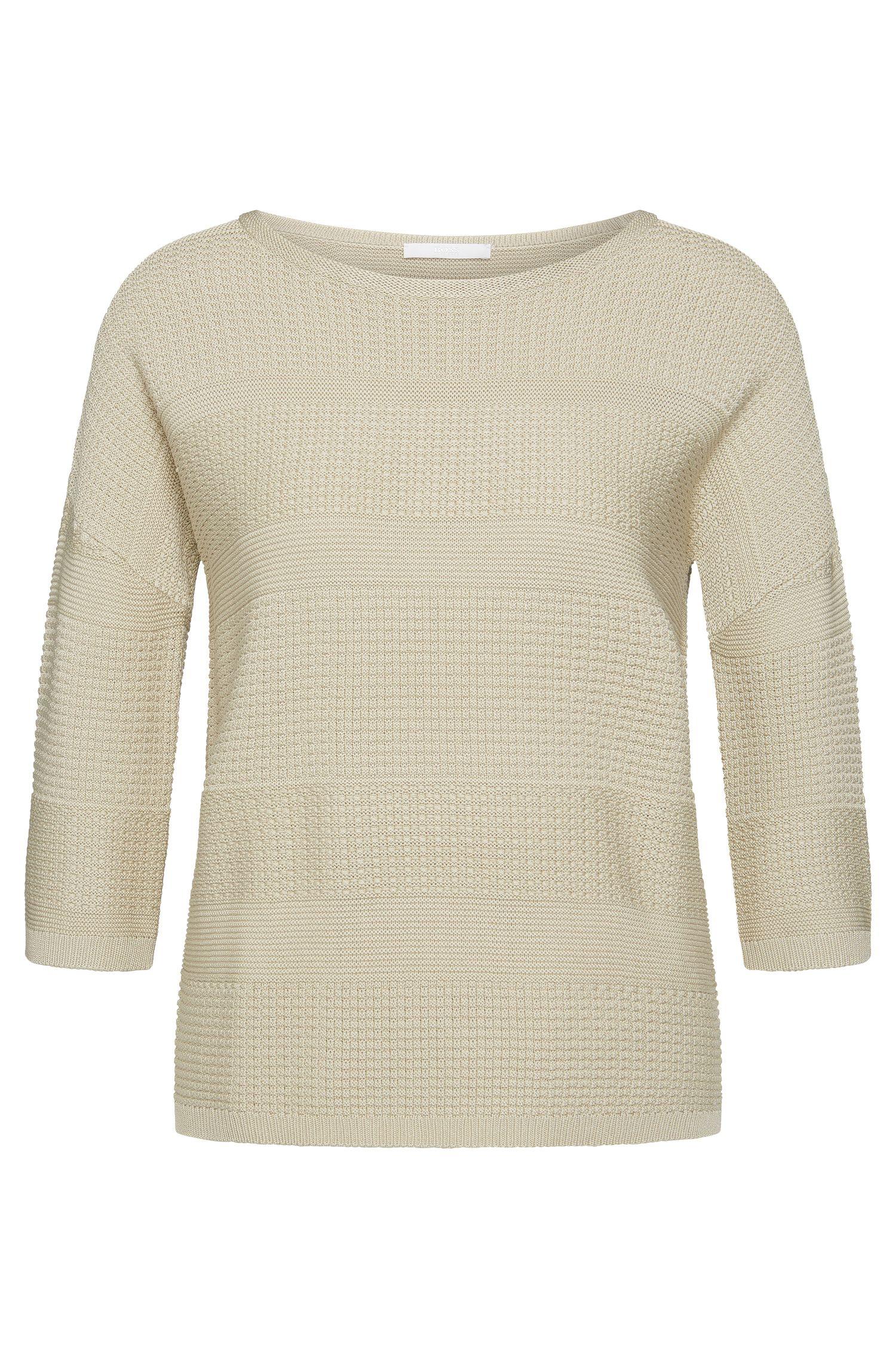 Straight-cut sweater in viscose blend with cotton: 'Fiammetta'