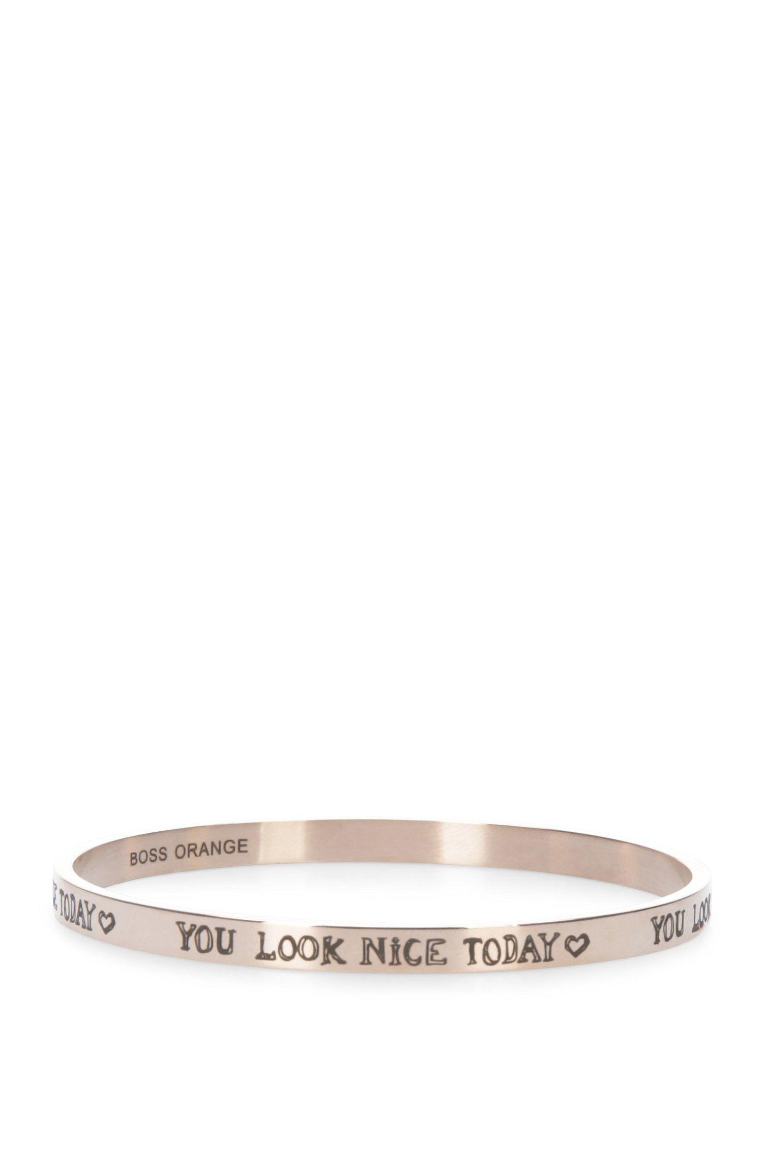 Bracelet en acier inoxydable à inscription gravée: «Ming»