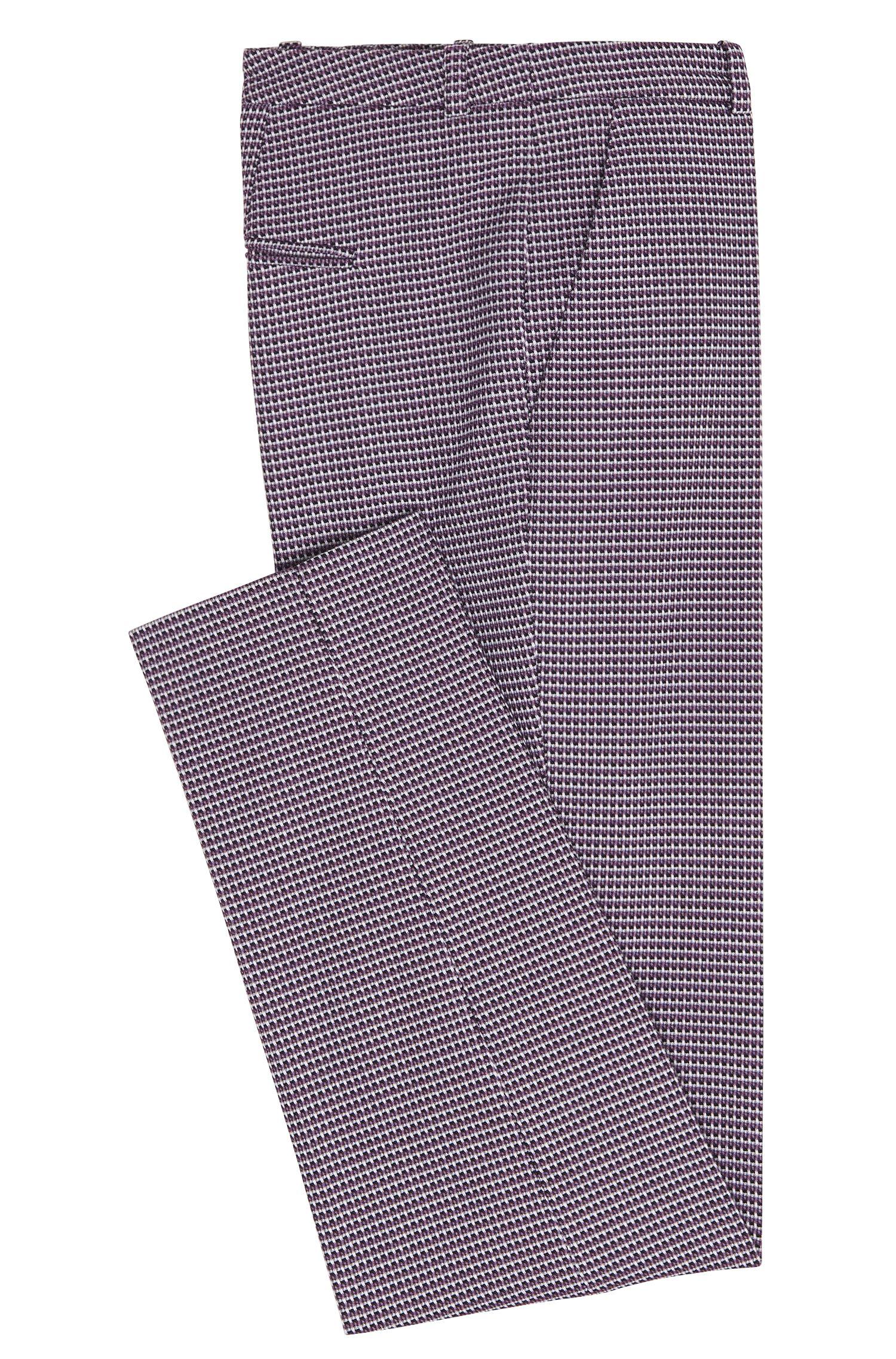 Broek van stretchkatoen met fijn dessin: 'Harile-3'
