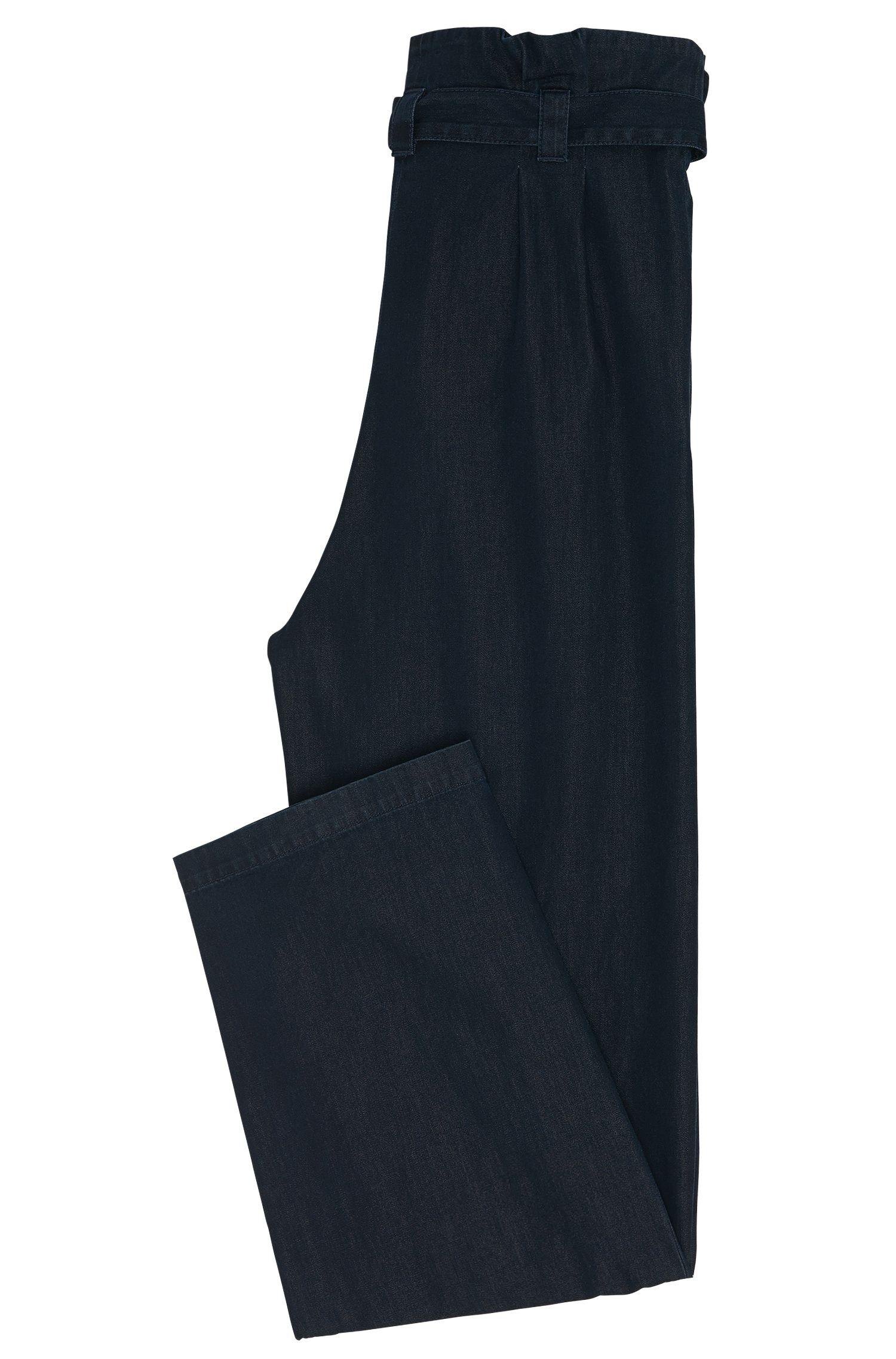 High Waisted Hose aus Baumwolle in Denim-Optik: 'Hifes-W'