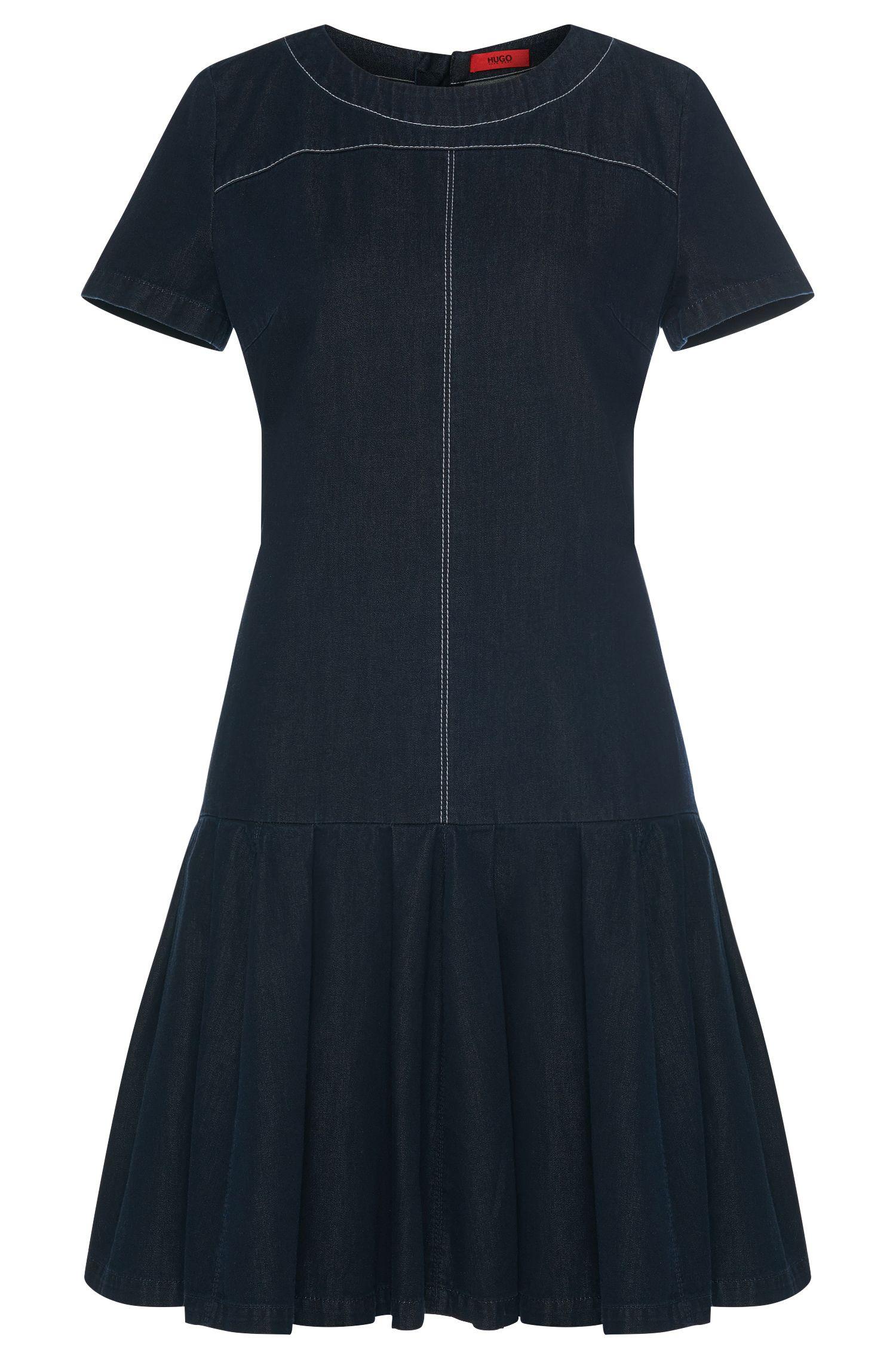 Jeanskleid aus Baumwolle mit ausgestelltem Rockteil: 'Kiveri-W'