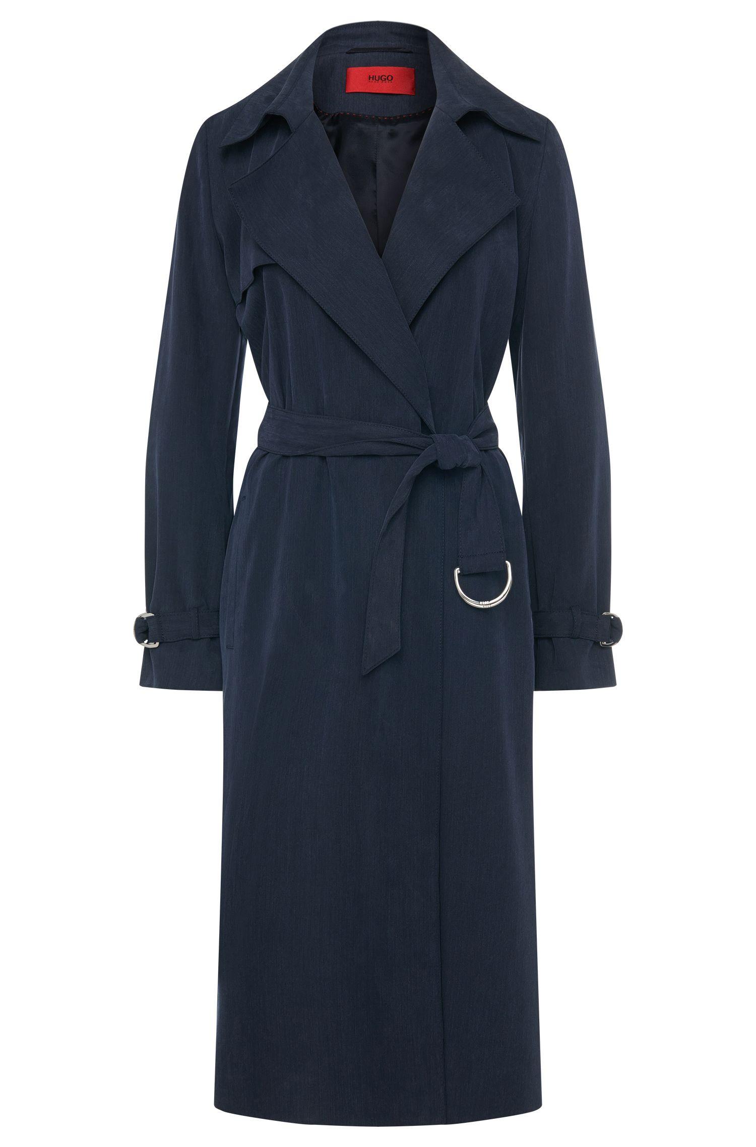Long coat with wrap belt: 'Maliz'