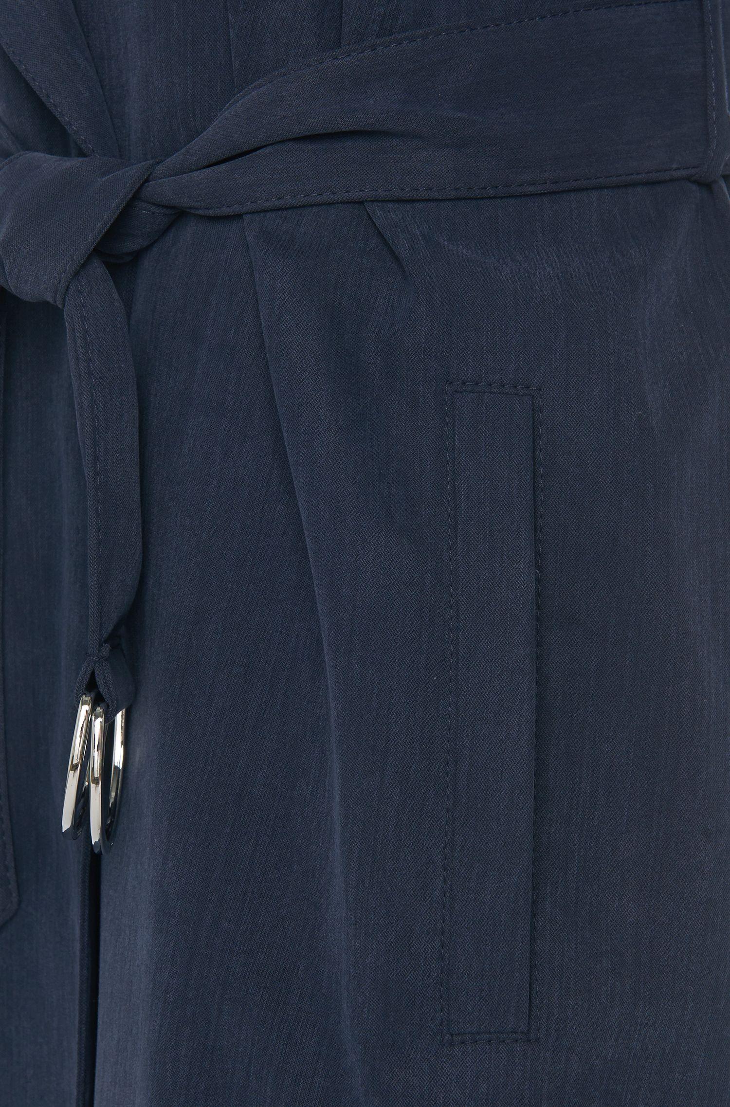 Lange mantel met ceintuur: 'Maliz'
