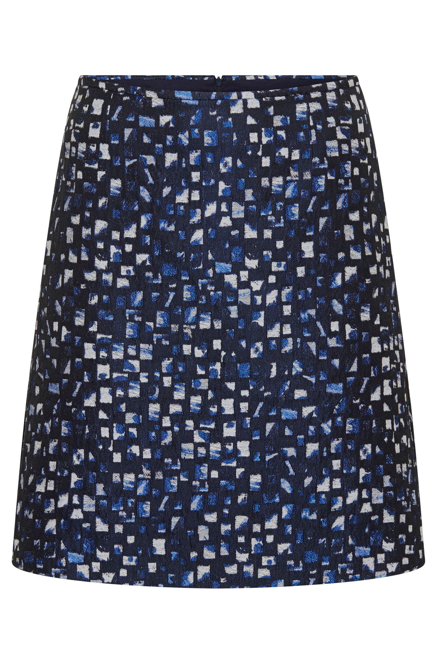 Skirt with textured all-over pattern: 'Relini-1'