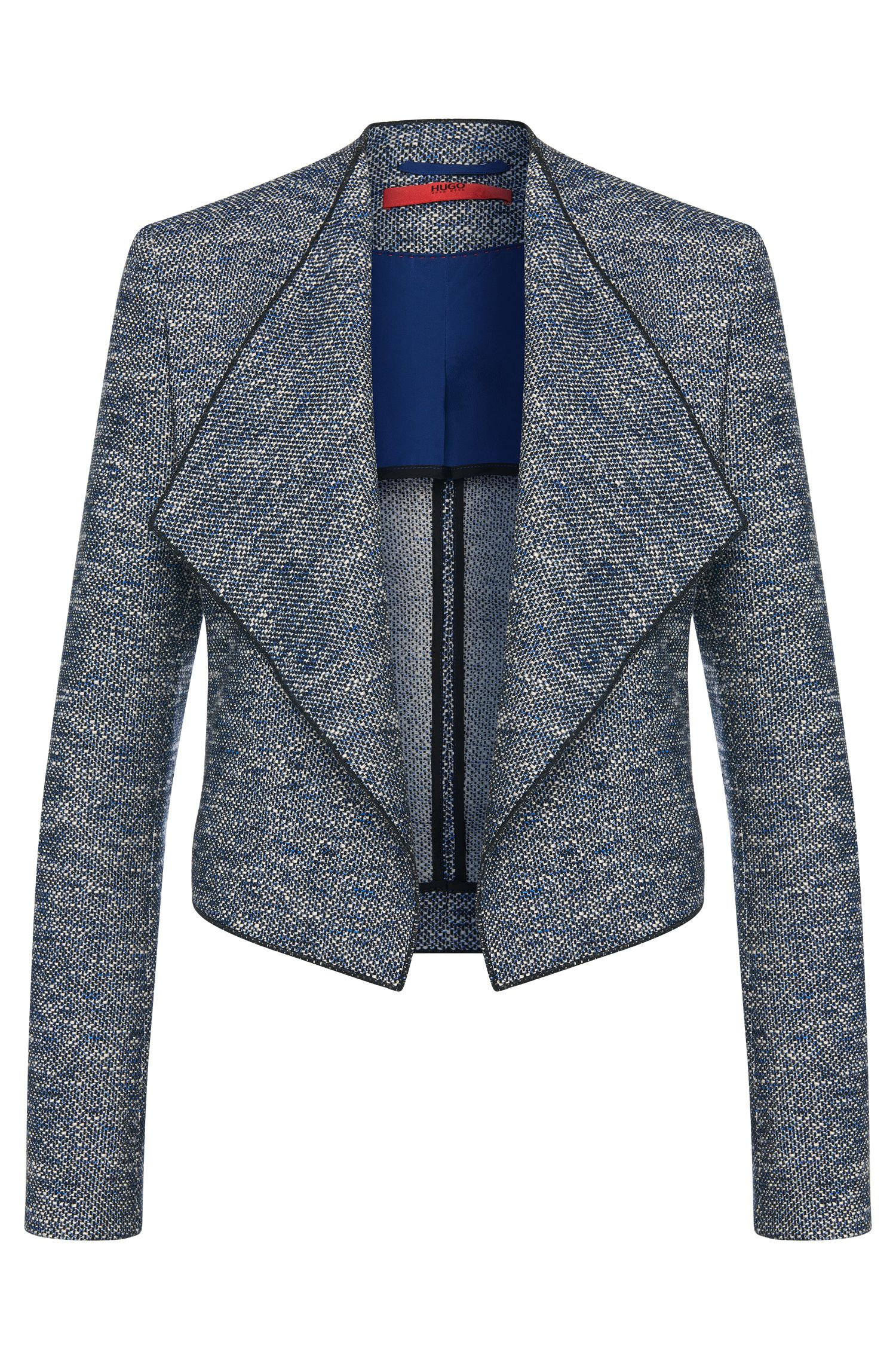 Open blazer in cotton blend with shawl collar: 'Arianis'