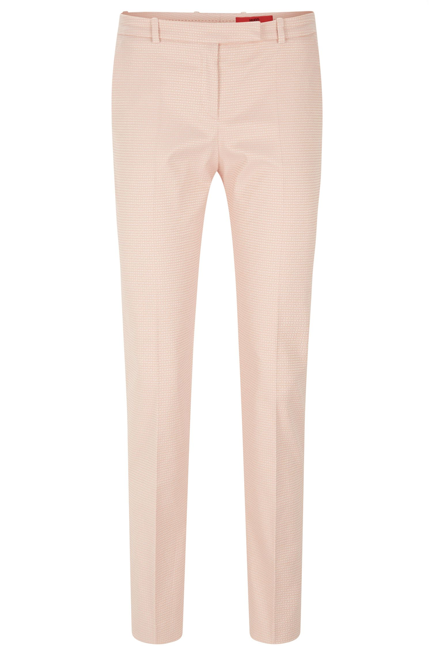 Finely patterned trousers in stretch cotton blend: 'Harile-3'
