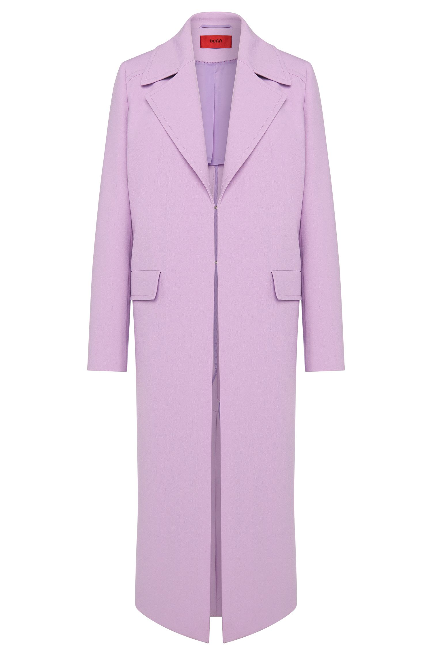 Coat with wide lapel collar: 'Migela'