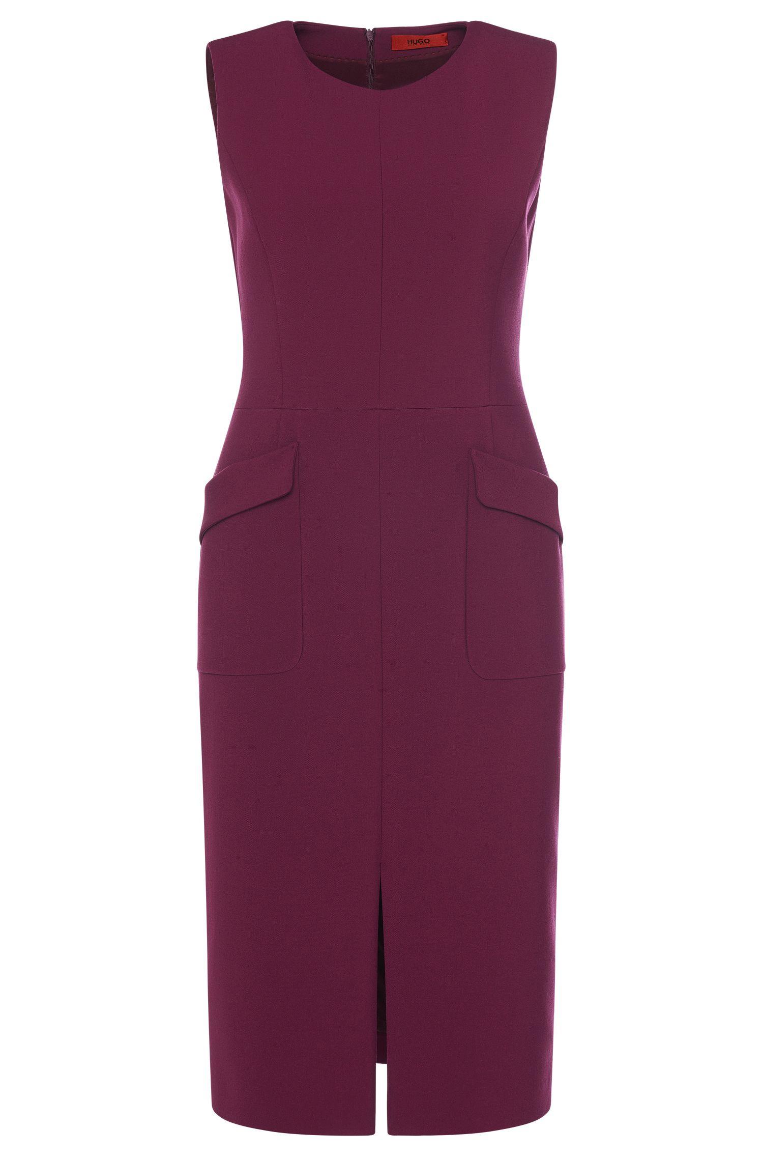 Nauwsluitende jurk met opgezette zakken: 'Klenni'