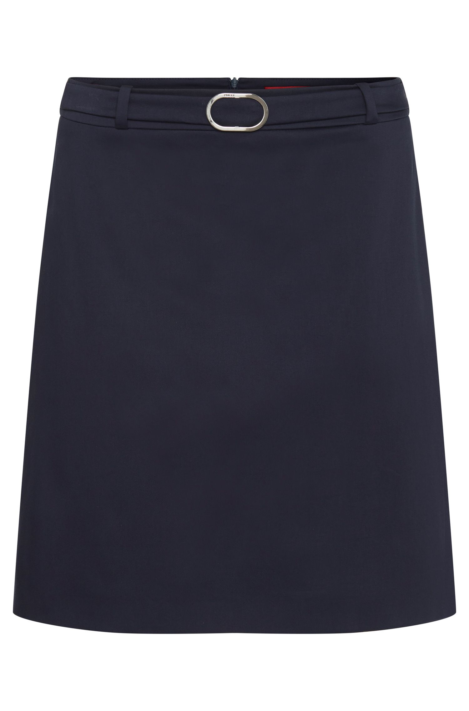 Slightly flared skirt in stretch cotton: 'Rumena'