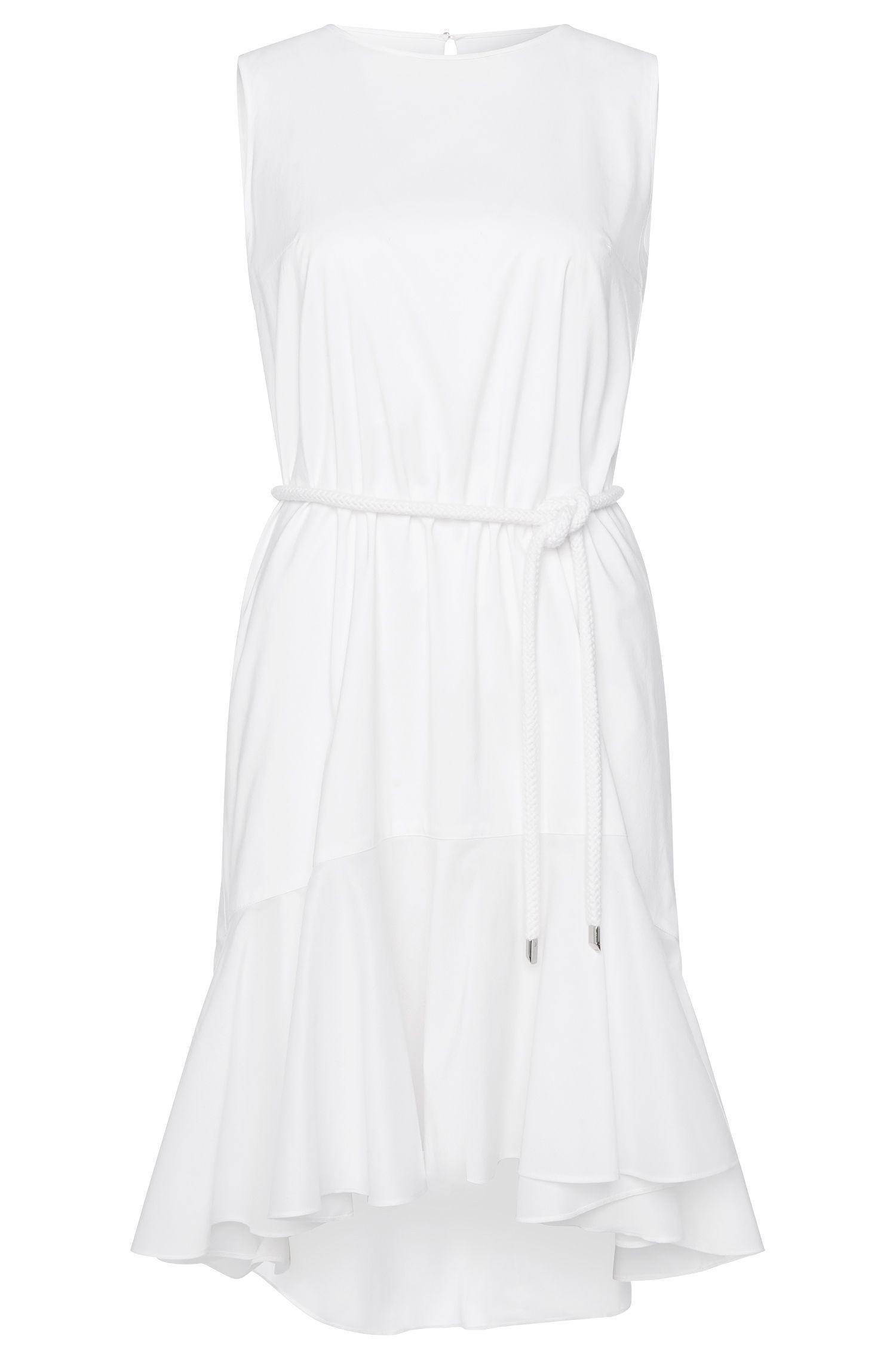 Mouwloze jurk van een katoenmix met koord: 'Kaleva'