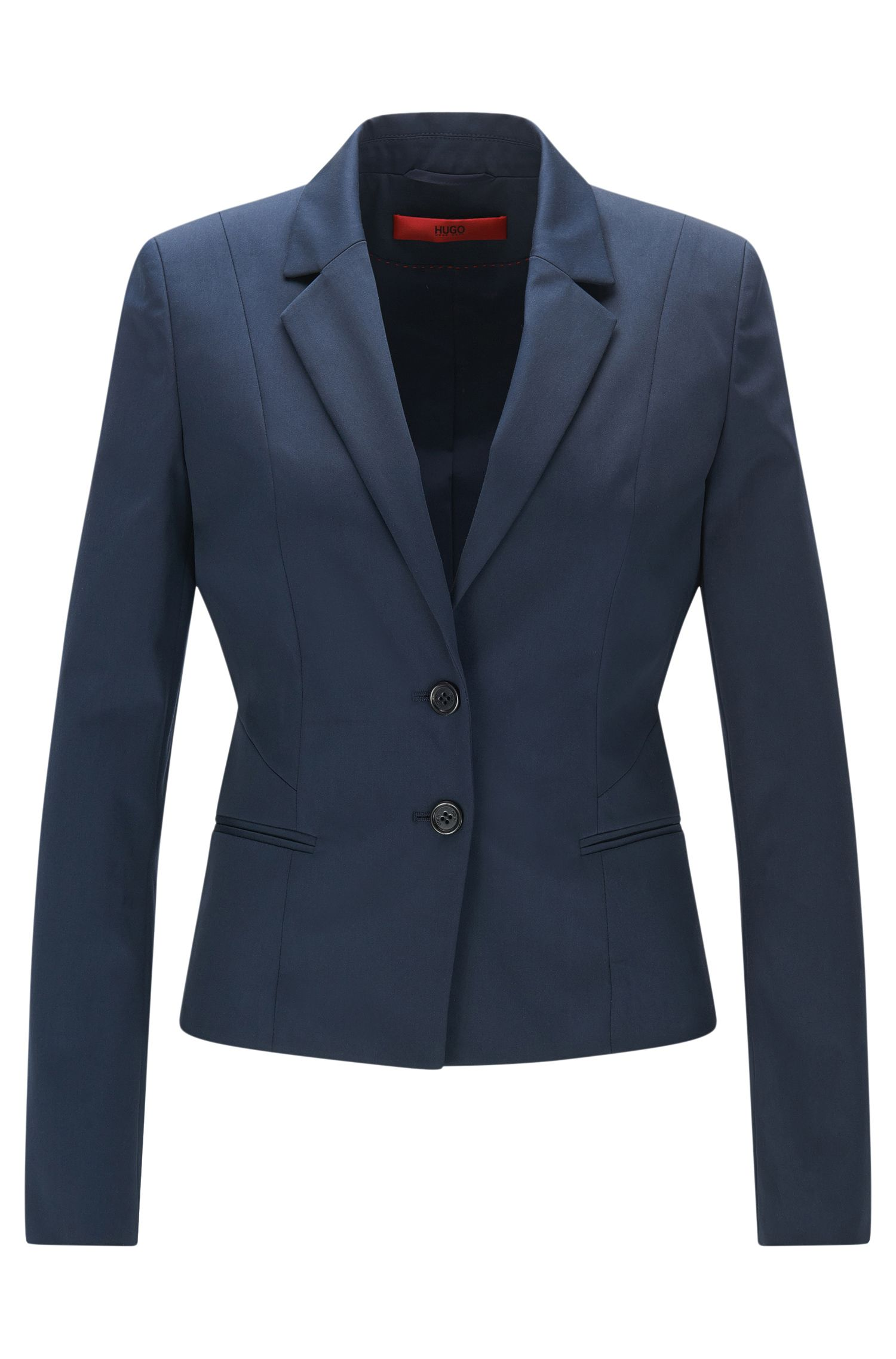 Fitted blazer in stretch cotton: 'Arkana'