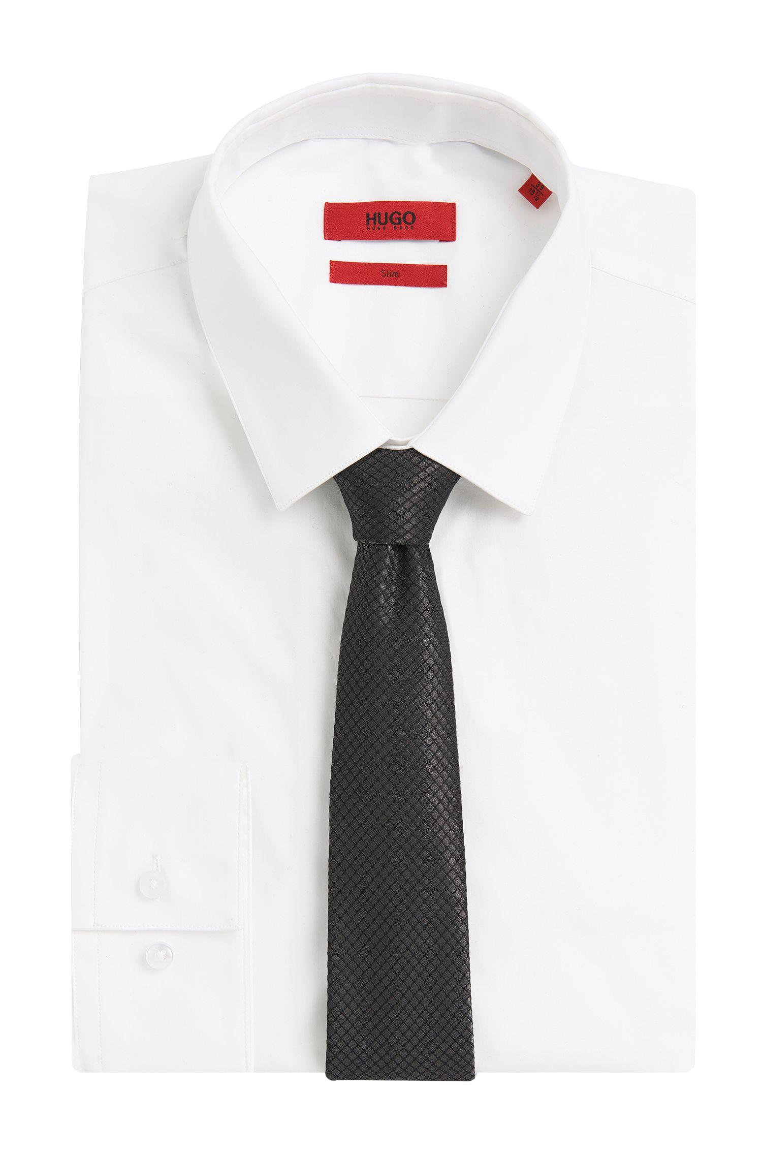 Cravate à motif en soie mélangée: «Tie 6cm»