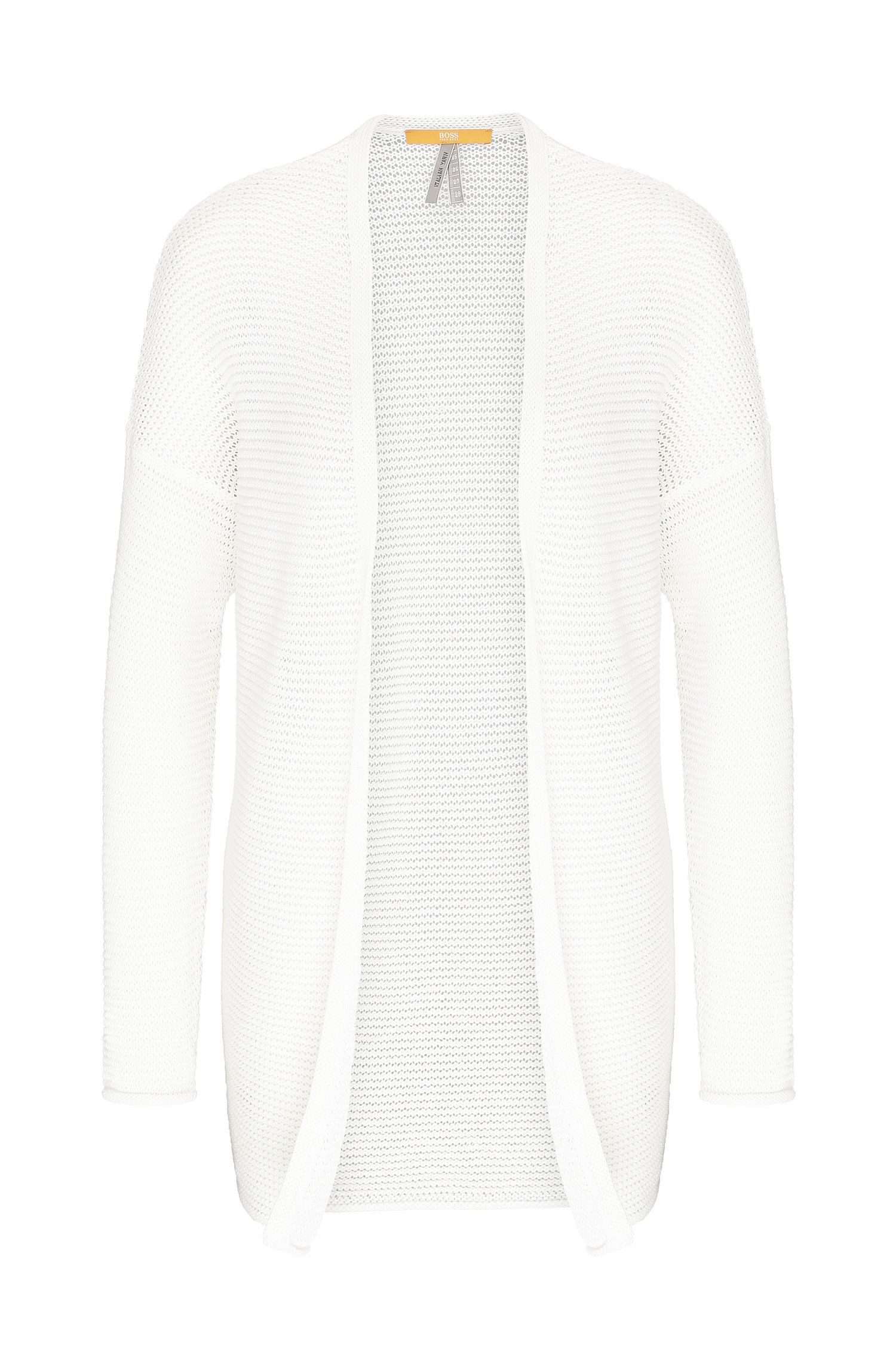 Relaxed-fit cardigan in cotton: 'Idellaine'