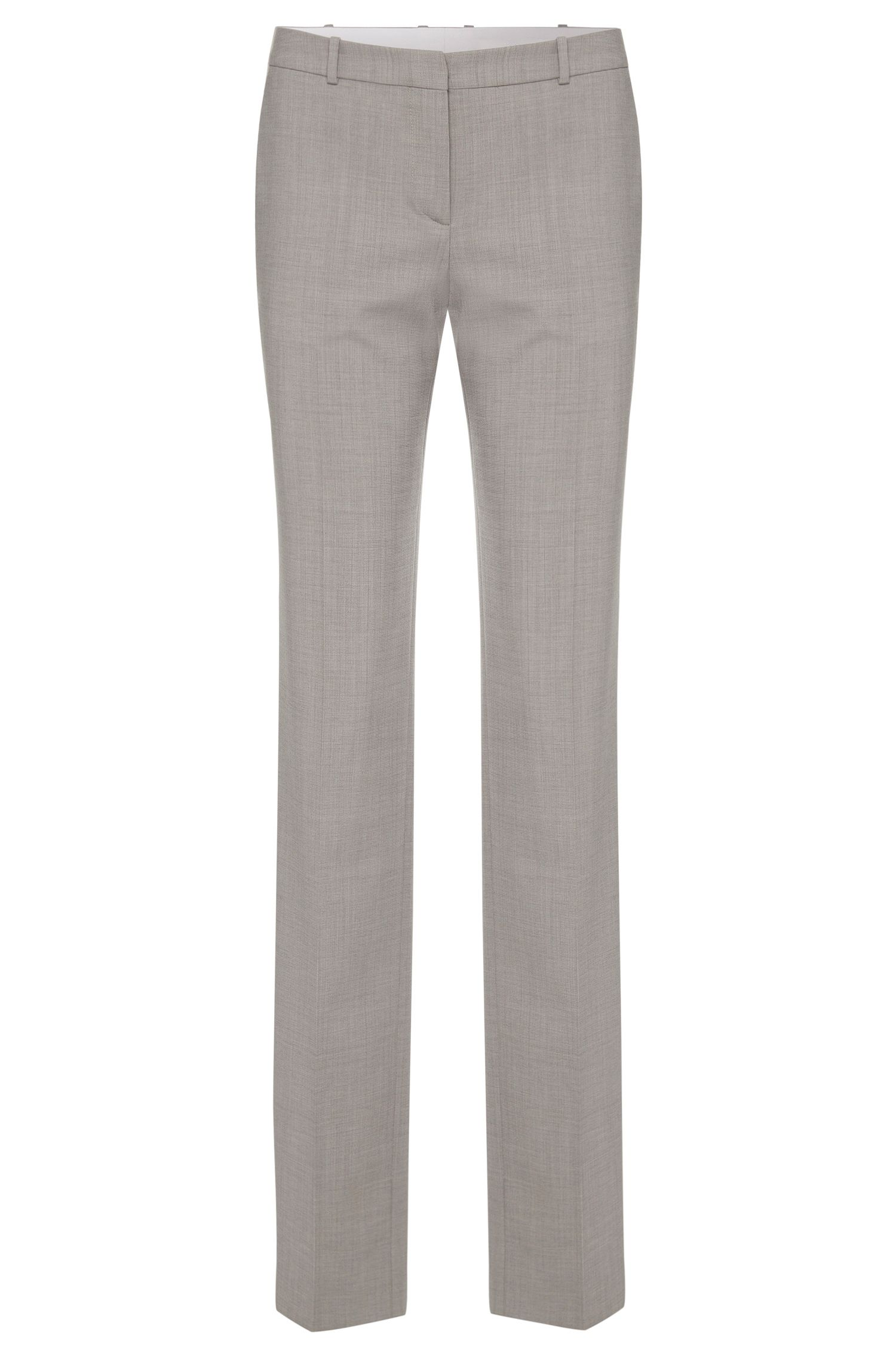 Finely textured regular-fit trousers in stretch new wool: 'Tamea1'