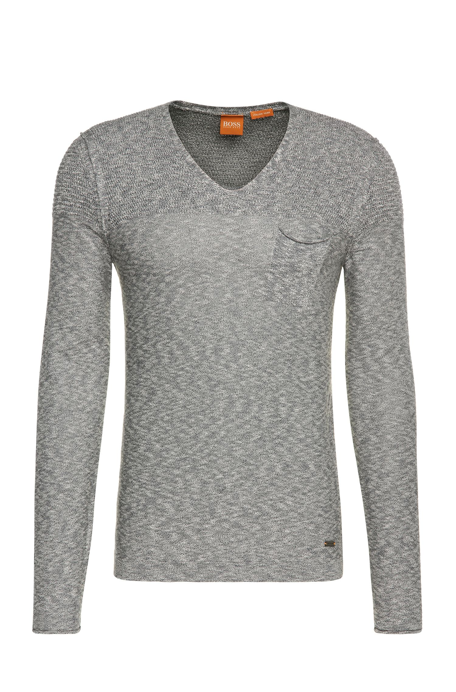 Knitwear sweater in cotton blend with viscose: 'Abramut'