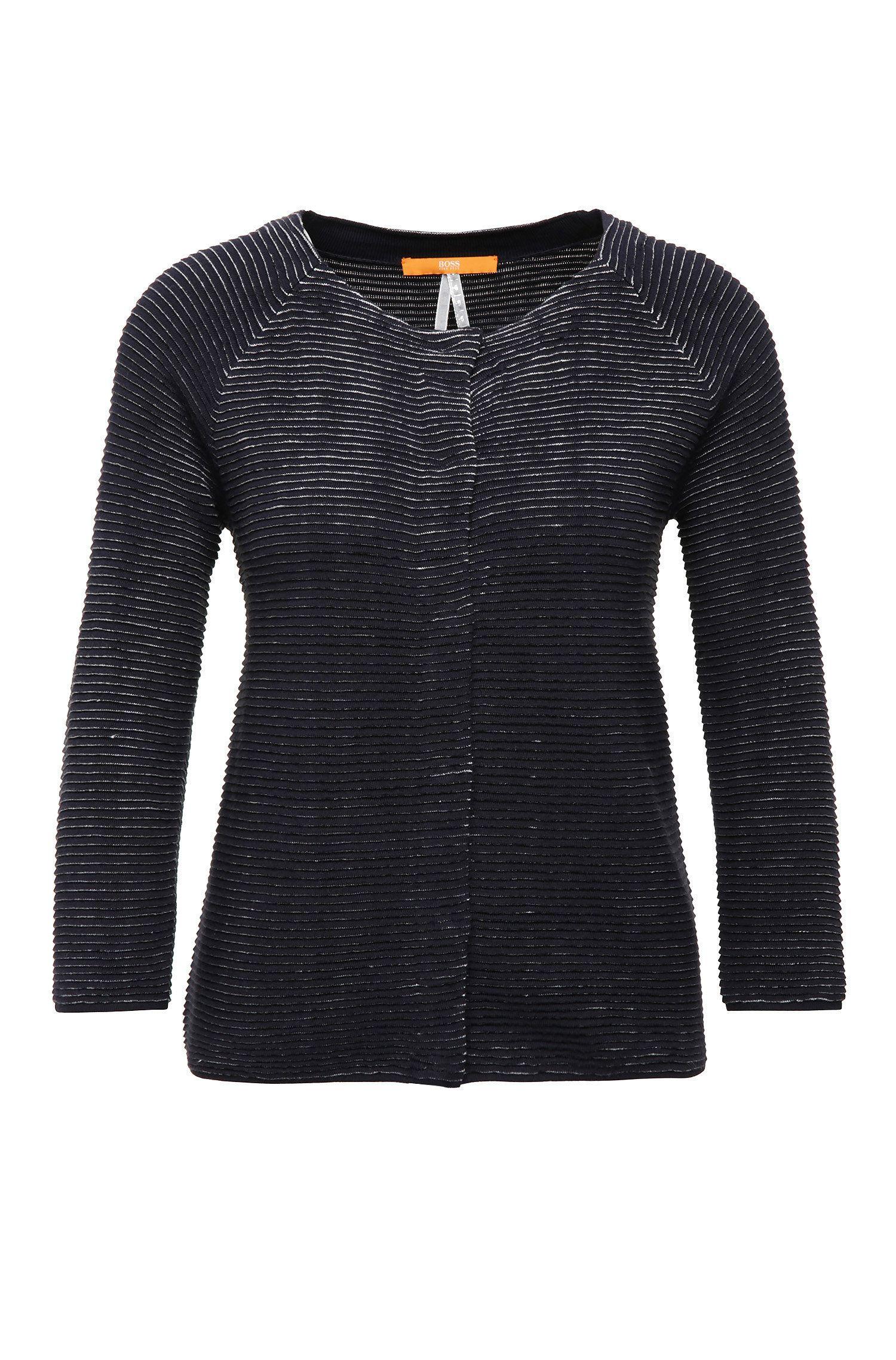 Regular-fit vest van een katoenmix met viscose, linnen en zijde: 'Isaial'