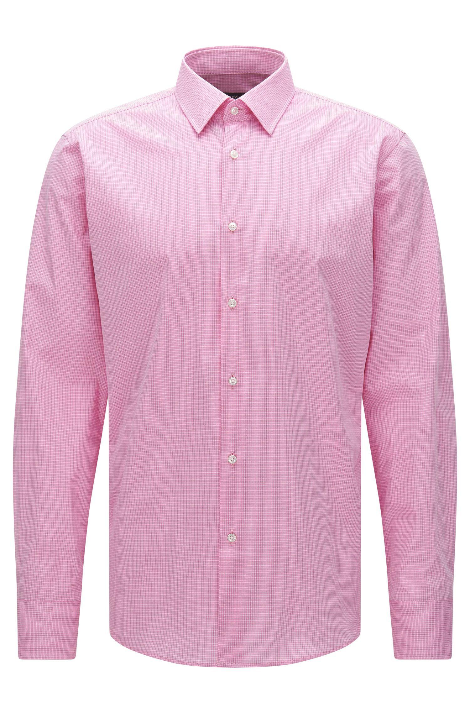 Kariertes Regular-Fit Hemd aus Stretch-Baumwolle: 'Enzo'