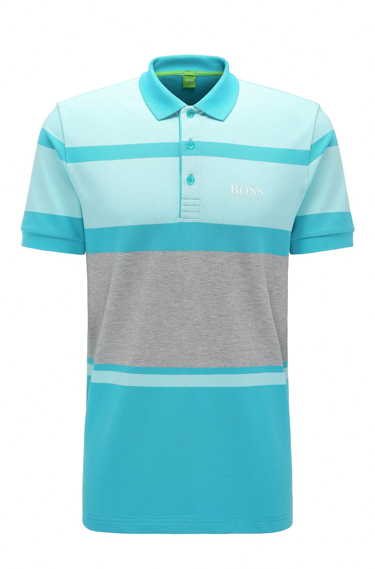 Regular-Fit Polo aus Stretch-Baumwolle mit Streifen: ´Paddy Pro 1`