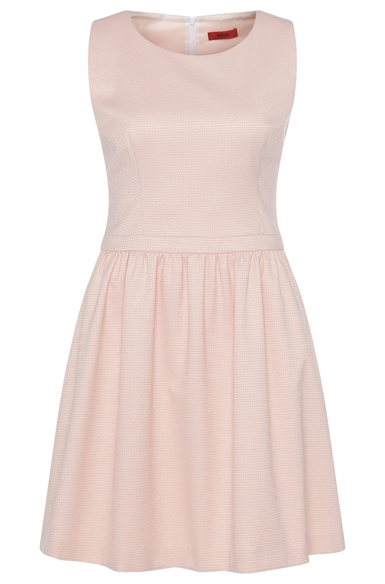 Besticktes Kleid aus elastischem Baumwoll-Mix: 'Kevera-2'