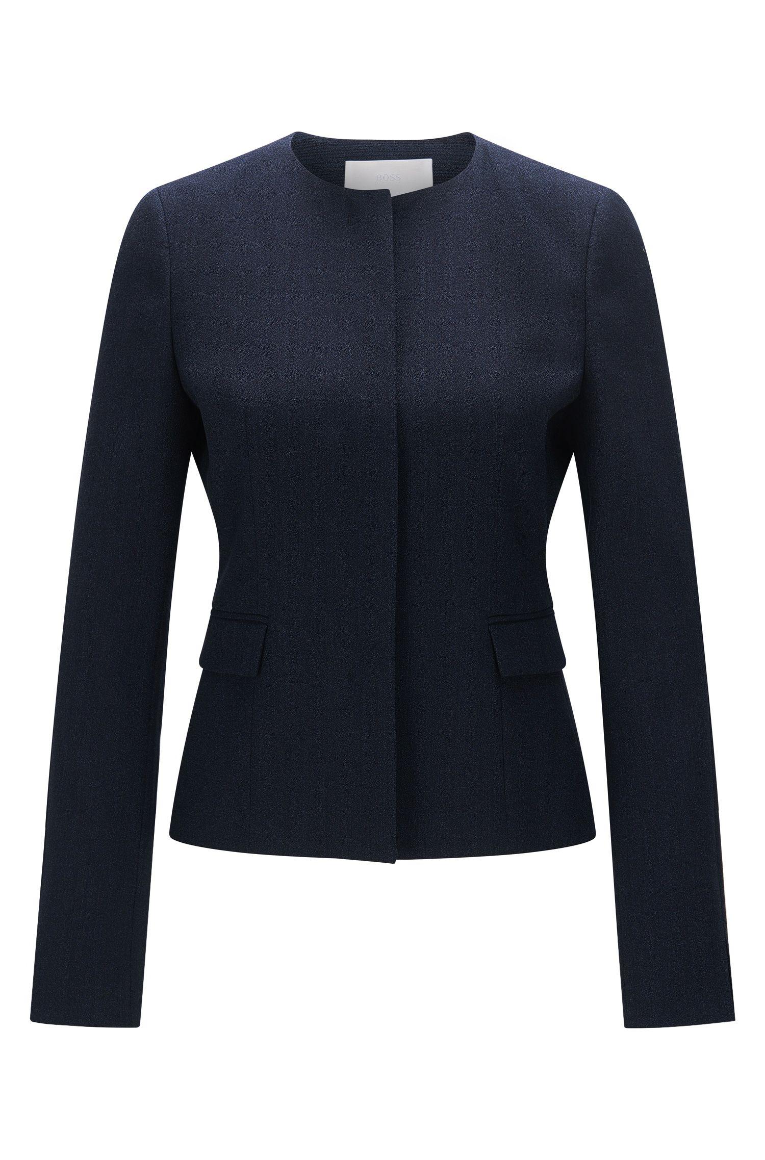 Blazer slim fit en lana virgen elástica con textura: 'Jalesana1'
