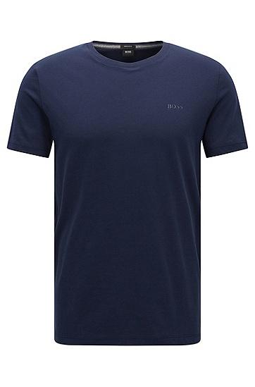 常规版素色纯棉T恤:'Tiburt 33',  410_海军蓝色