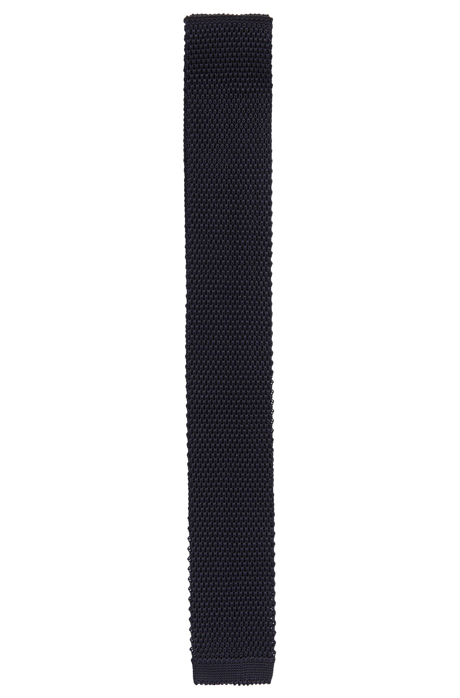 Knit tie in viscose: 'Tie 5 cm knitted'