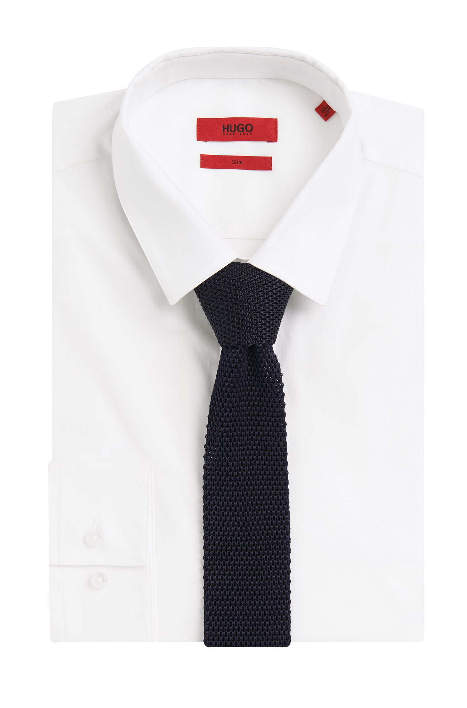 Cravate en maille de viscose: «Tie 5cm knitted»