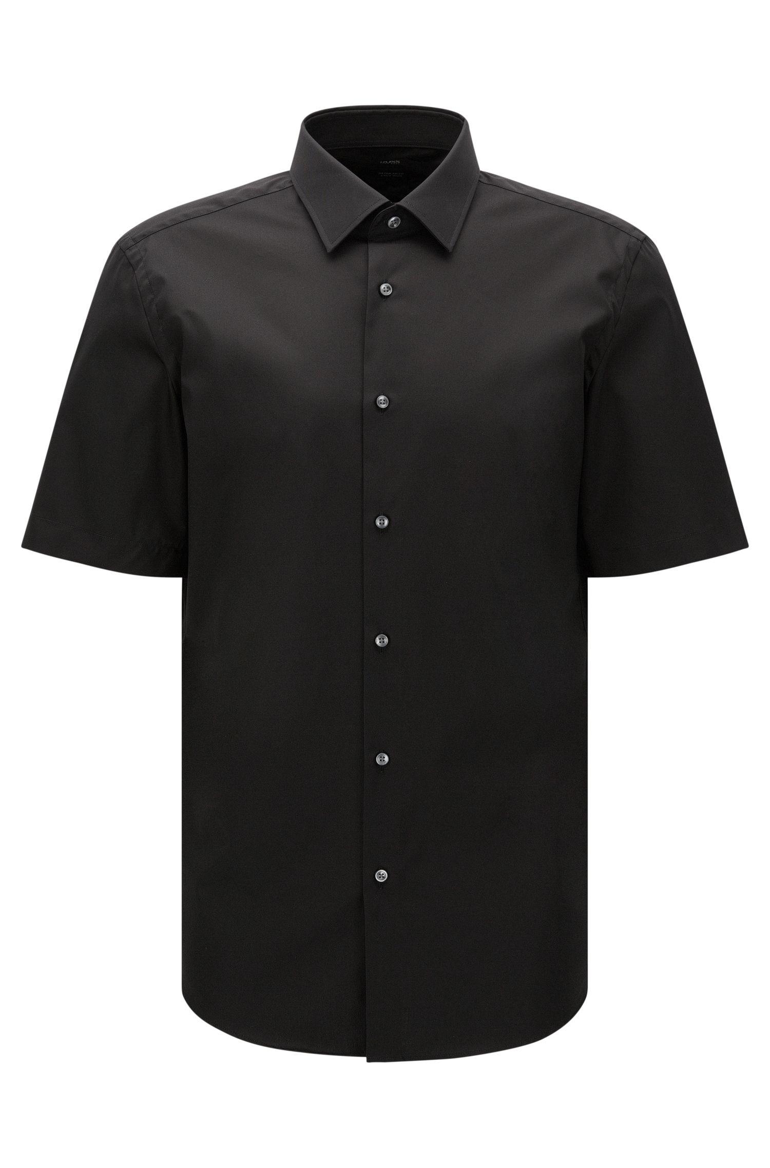 Chemise à manches courtes Regular Fit en coton facile à repasser: «Cinzio»