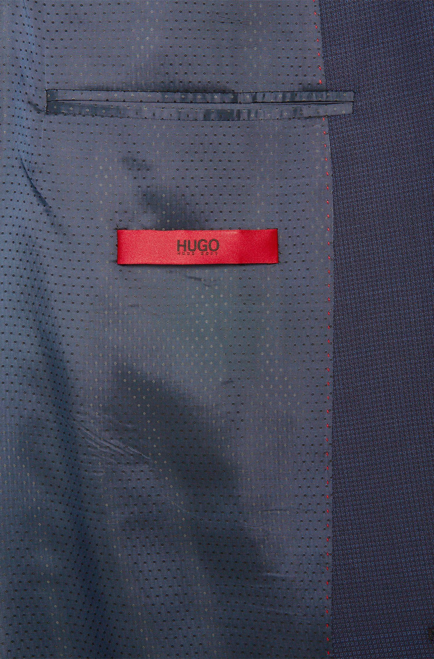 Veste de costume Regular Fit en laine vierge à carreaux fins: «C-Jeys1»