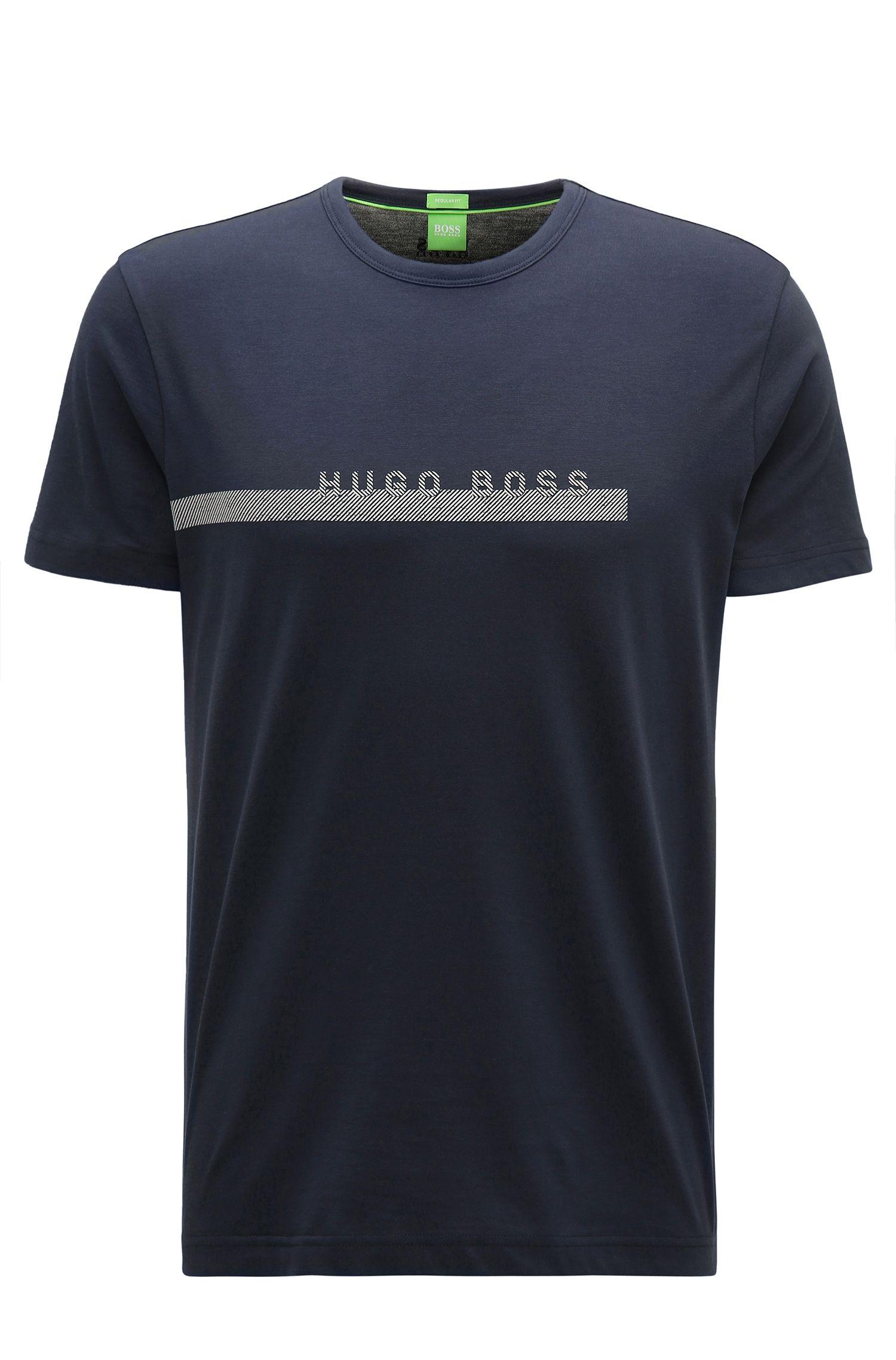 Camiseta regular fit con logo en algodón suave
