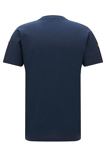 常规版应季印花棉质T恤,  410_海军蓝色