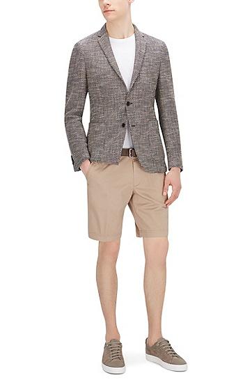 常规版弹力棉短裤:'Crigan Short W',  294_淡米色